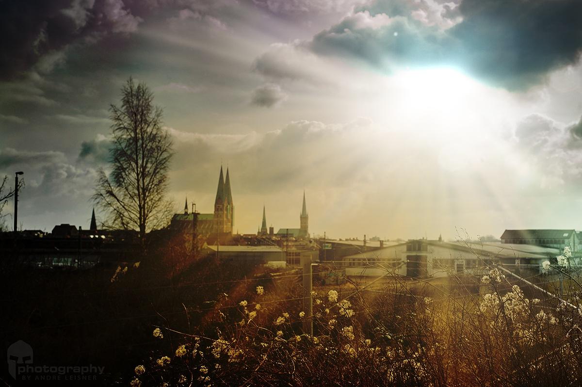 Sunshine over Lübeck by Andre Leisner