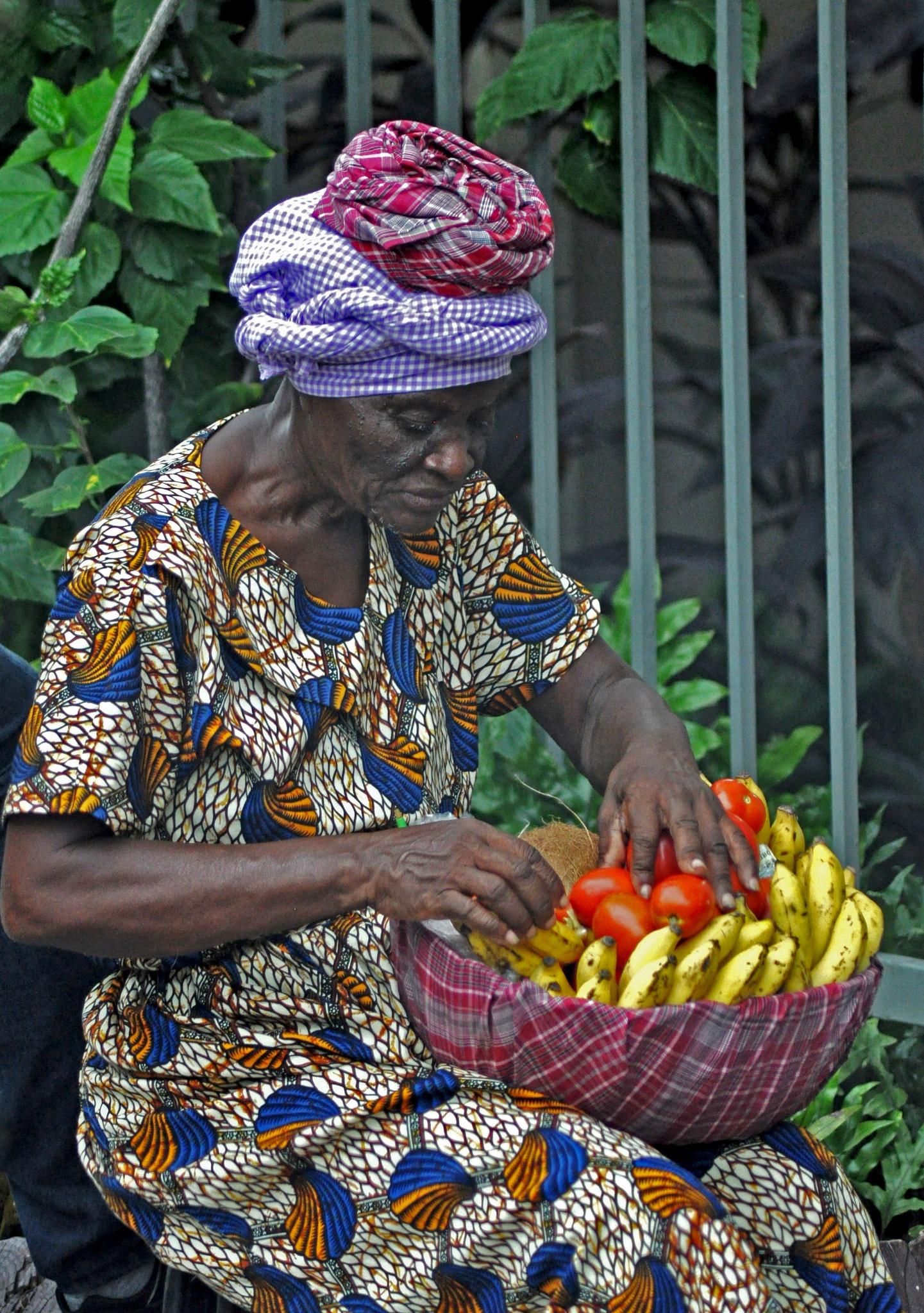 Old Jamaican lady by Francine Verronneau