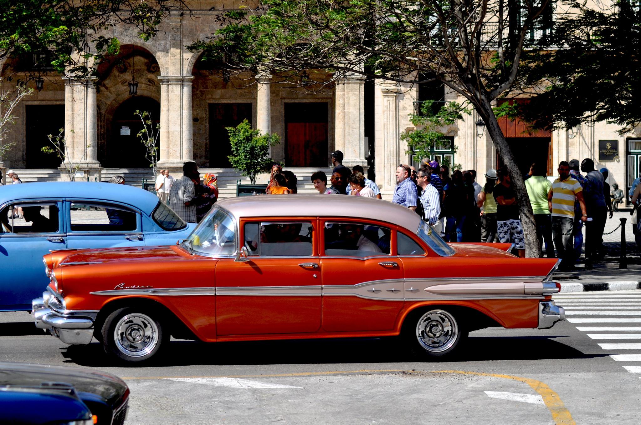 Old Pontiac in Havana, cuba by Francine Verronneau