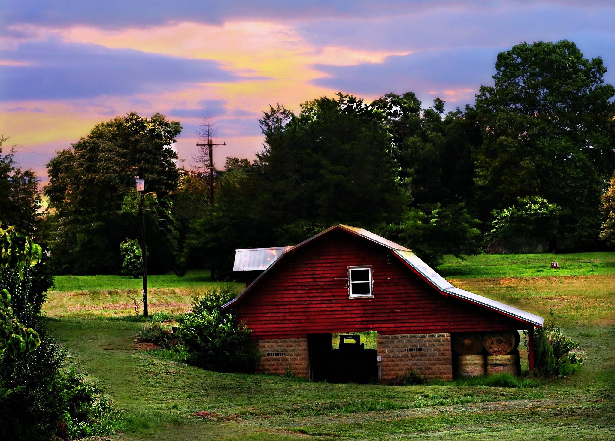 Rustic Farm Scene by Tom Horonzy