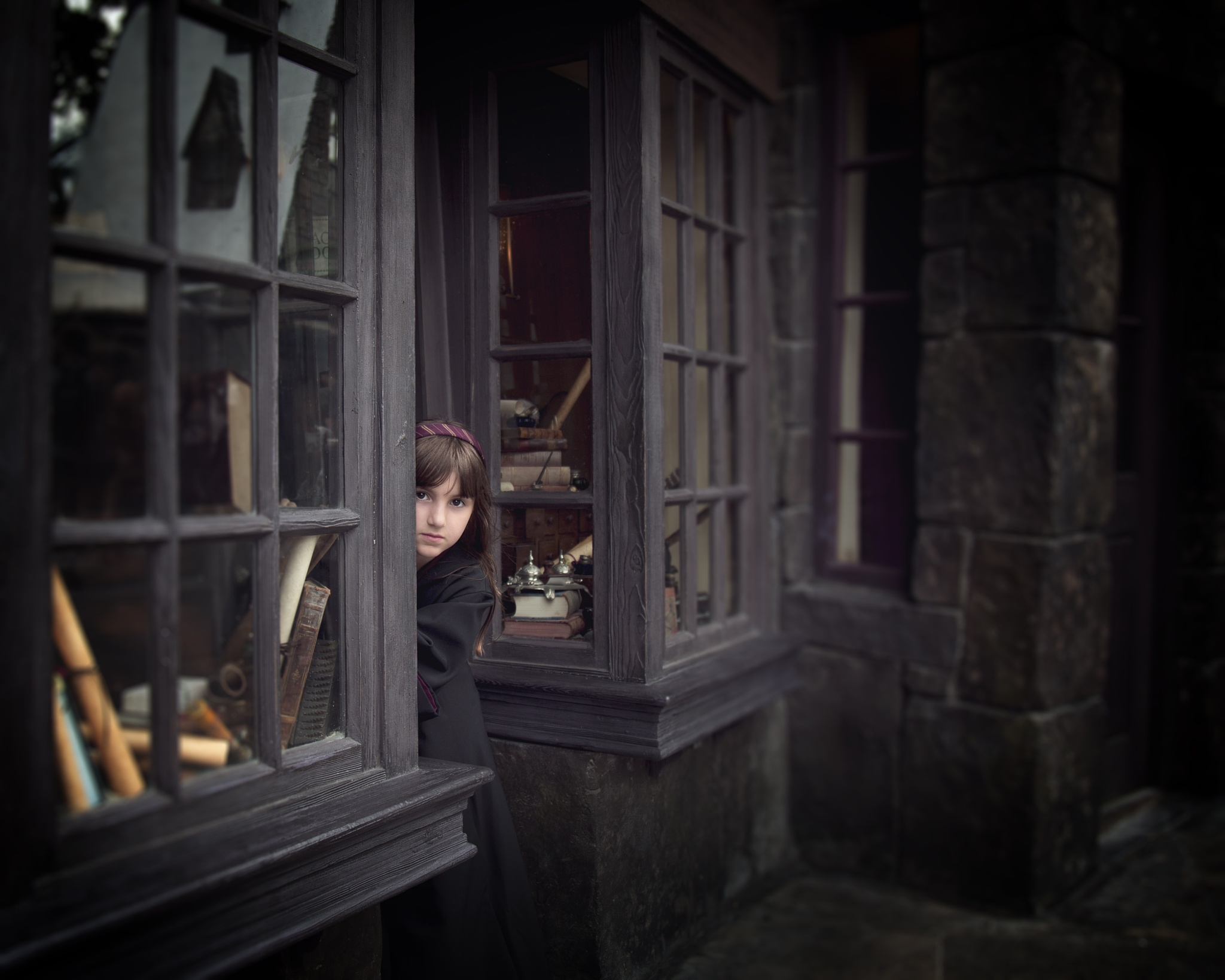 Little witch in Hogsmeade  by Yulia Starostina