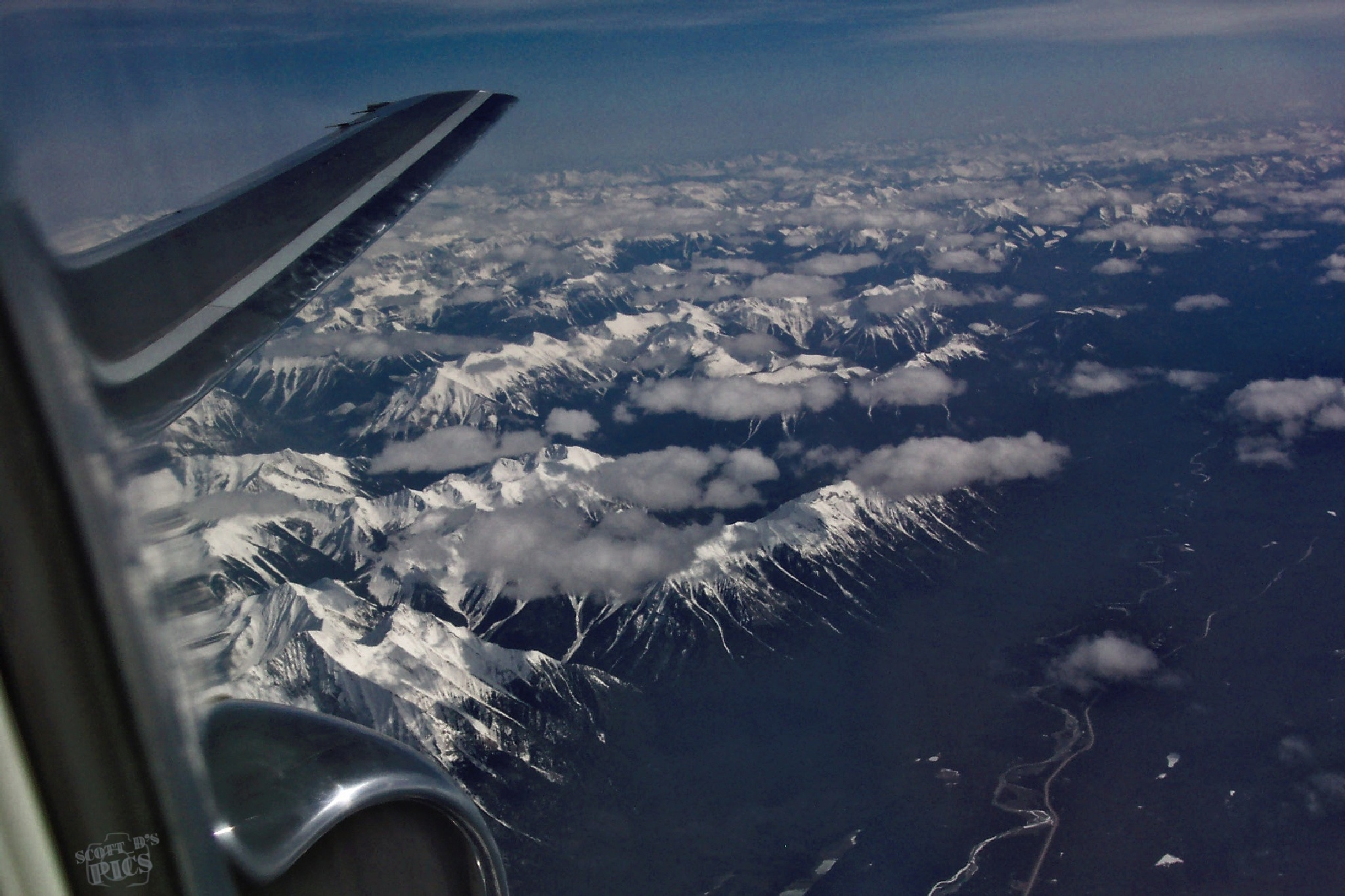 Flying Over the Canadian Rockies by scott_d