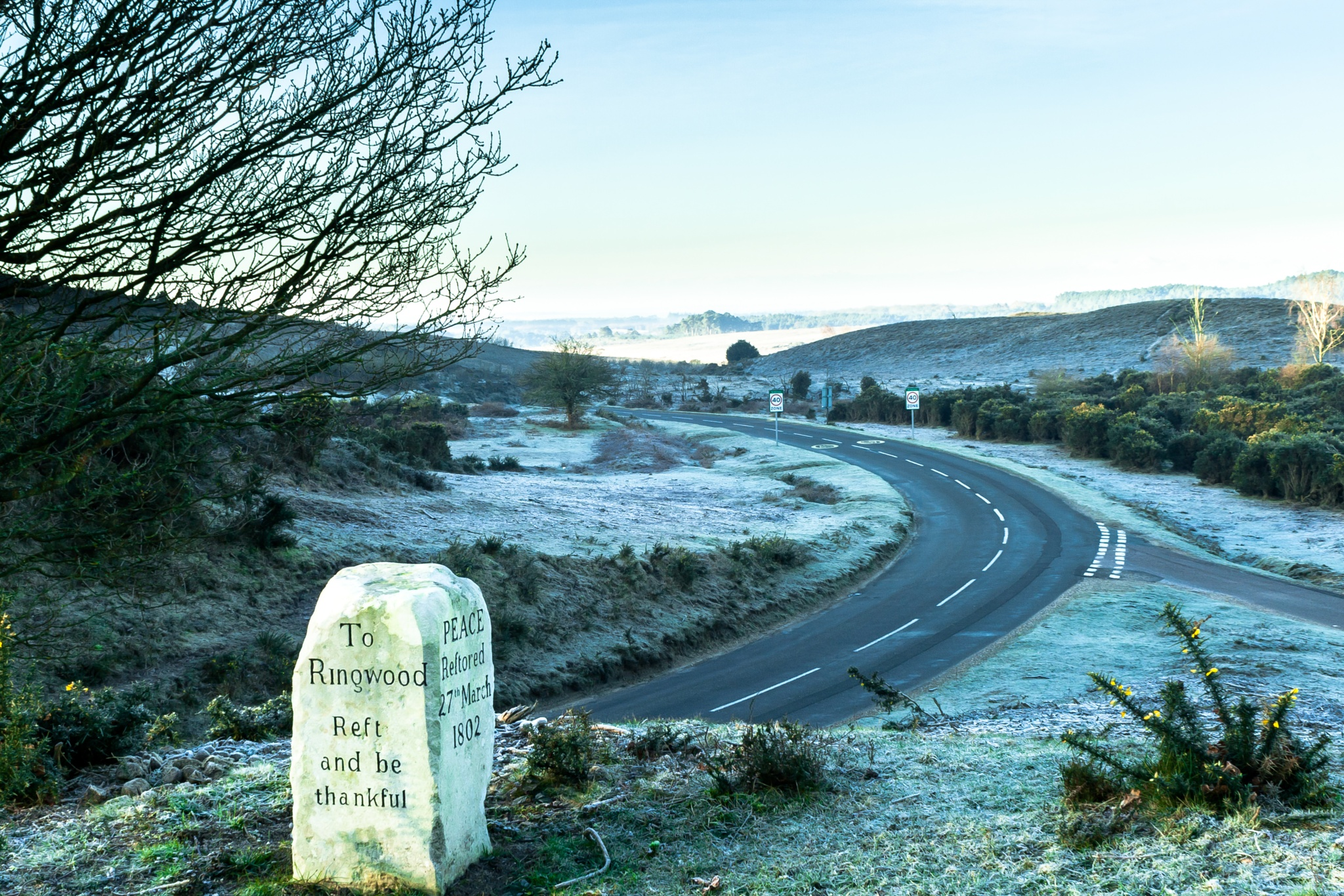 Photo in Landscape #cold #frost #bread stone #burley #ringwood #new forest