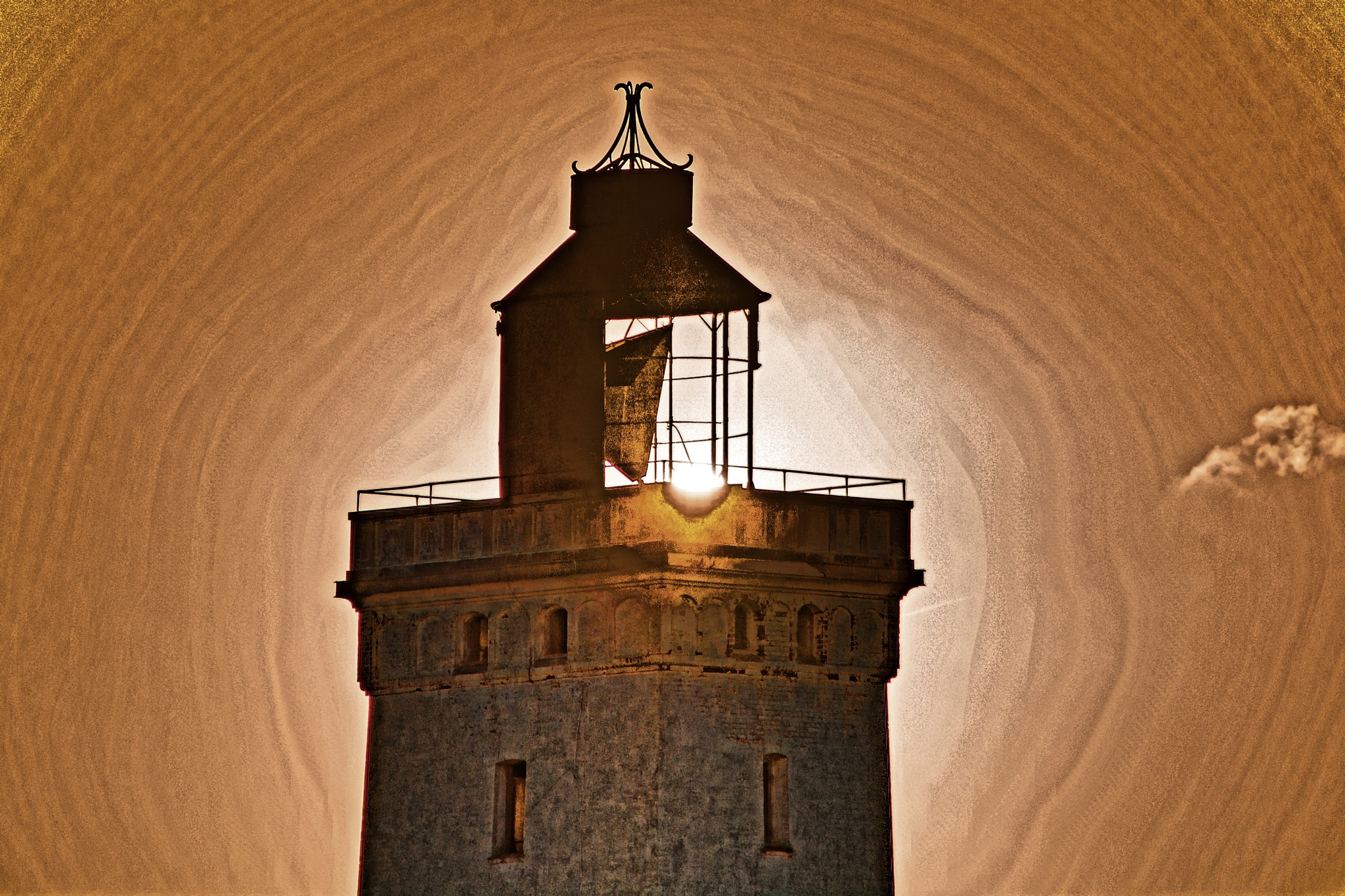 Lighthouse at Sunset 2 by MSchirmann