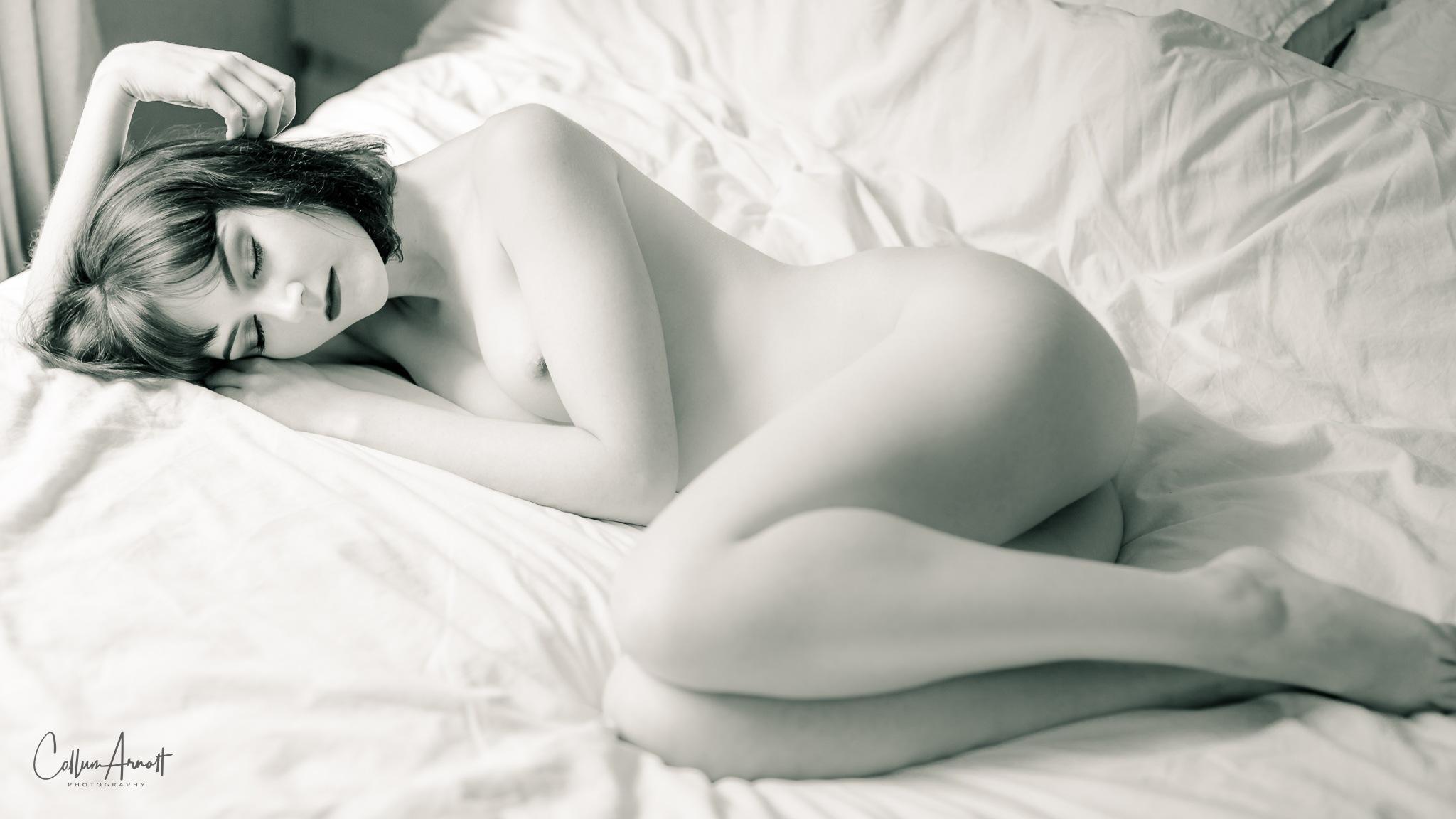 Sleeping nude by Captured Models