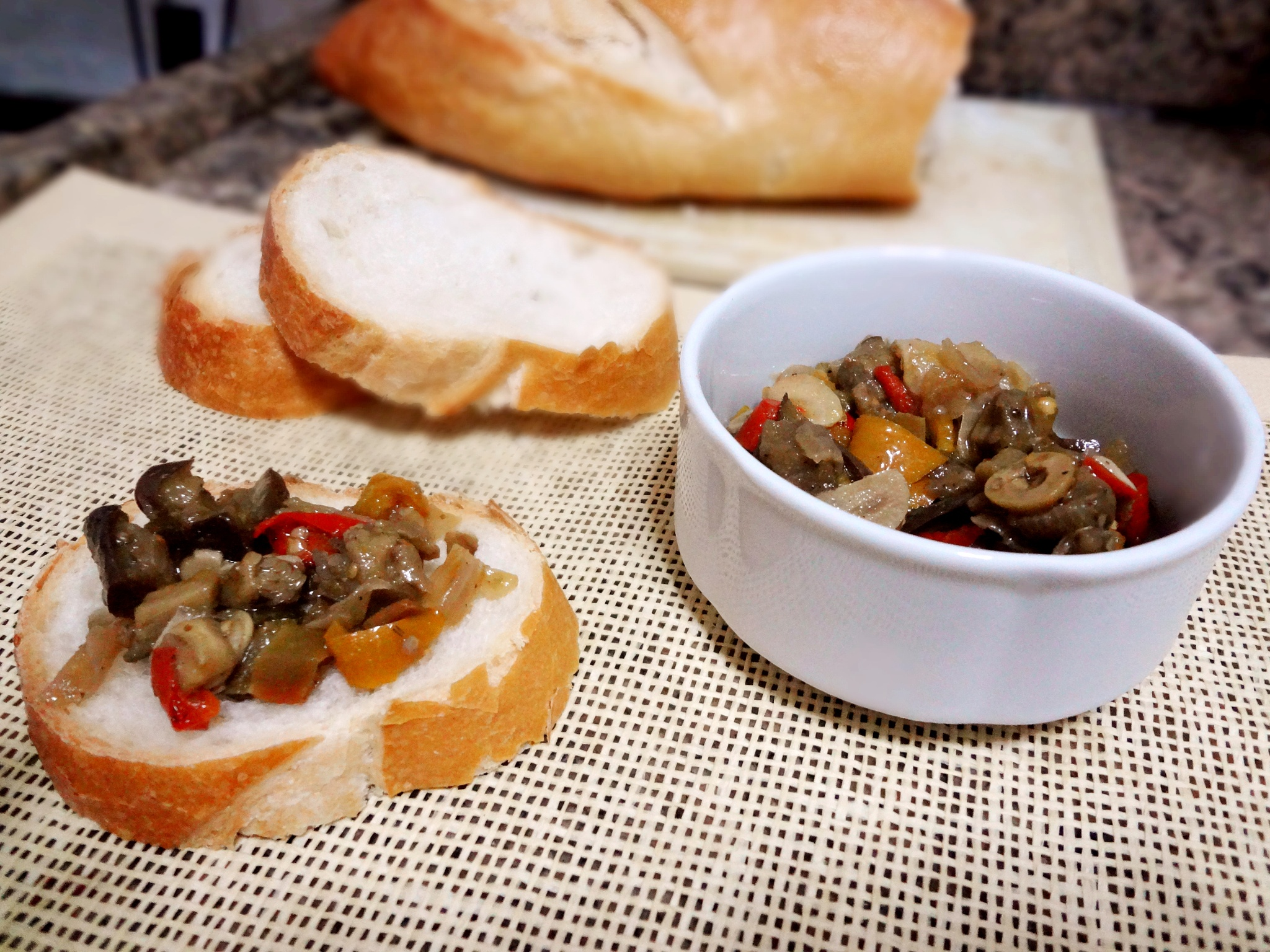 Caponata With Italian Bread by Paulo Cortez