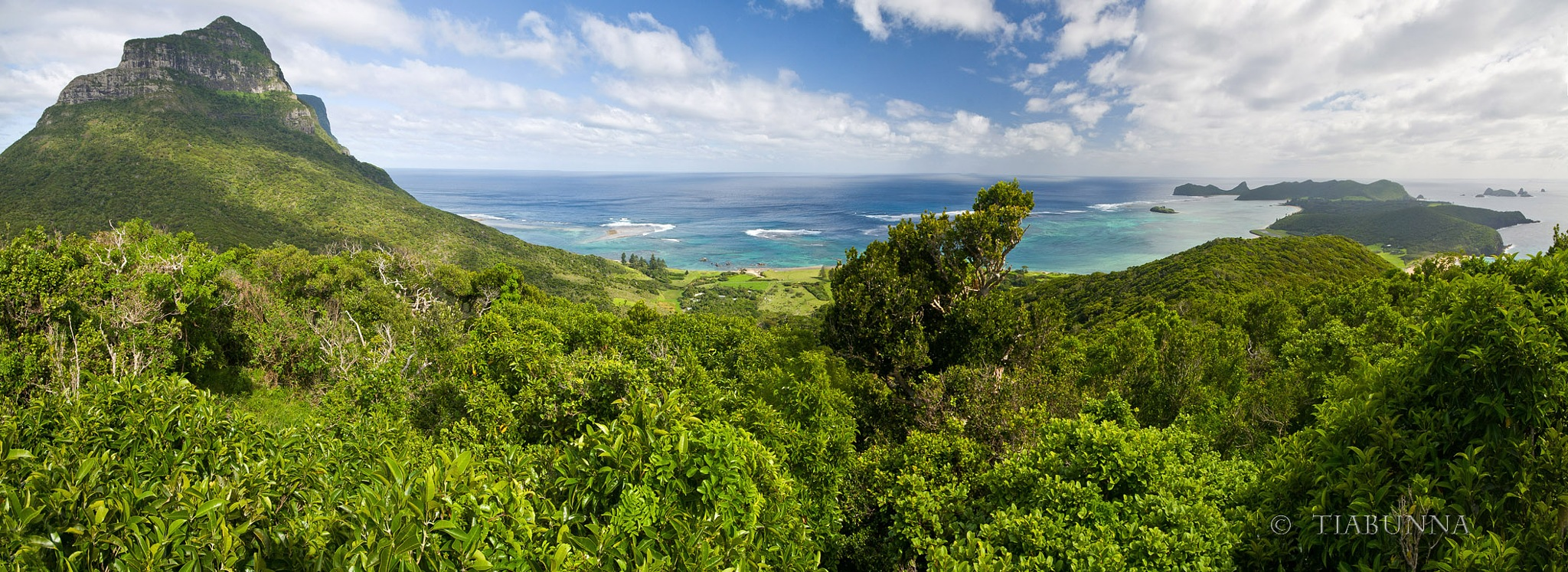 Island panorama by George Cook