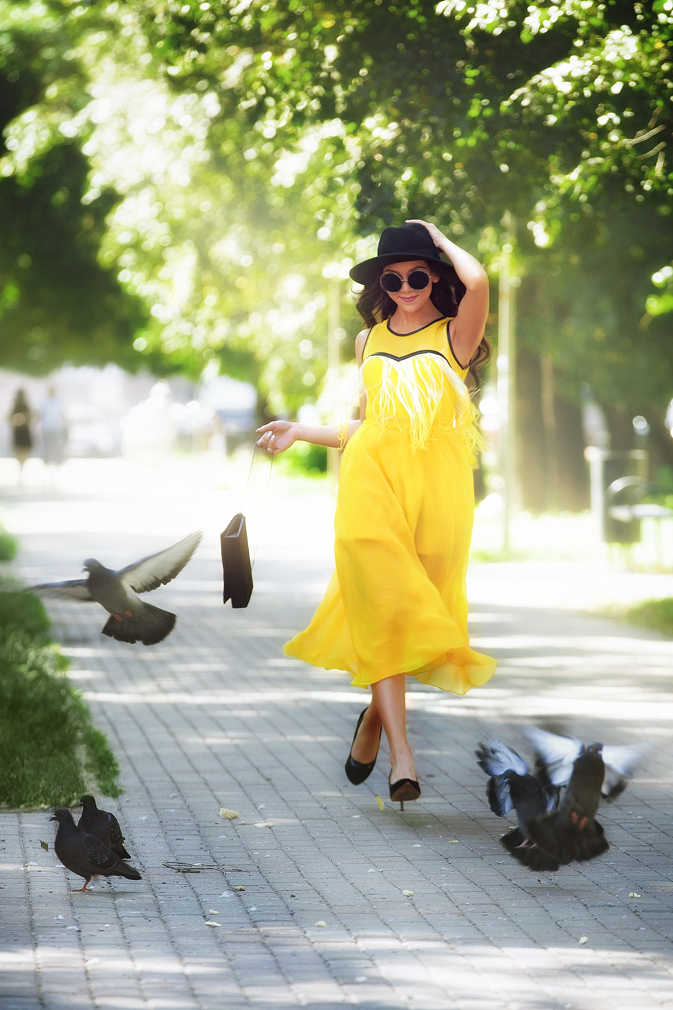 Summer. Lady in Yellow by Pavel Skvortsov