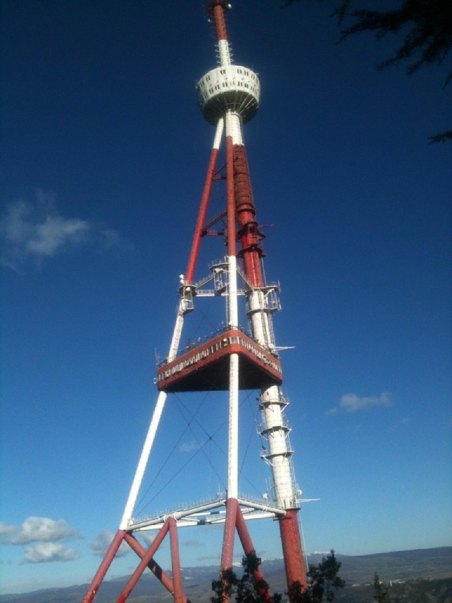Tbilisi Tv Tower.Mtatsminda Mountain. by RAMAZKHUNTSARIA