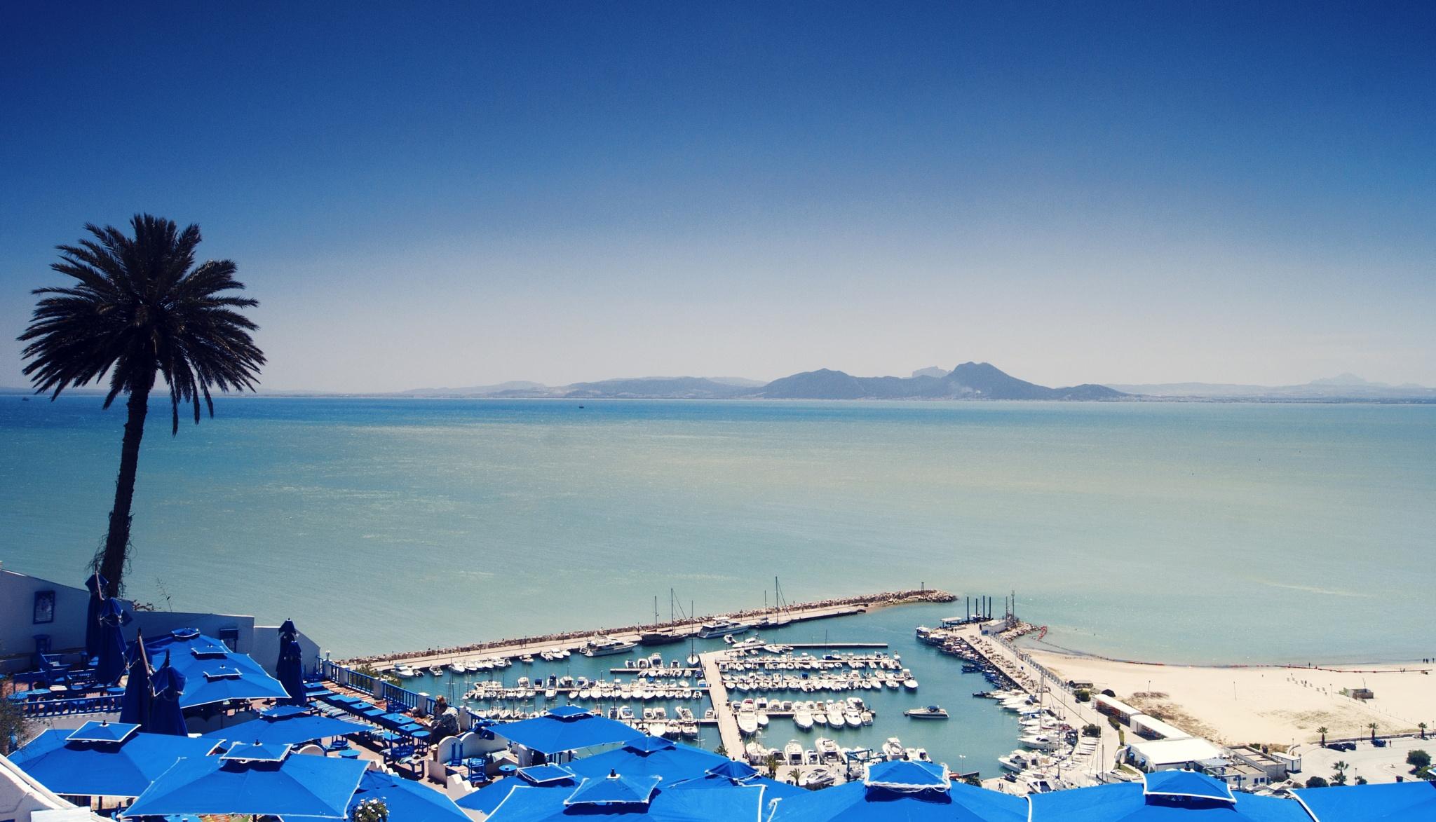 Romantic place in Tunisia. Sidi Bou Said by Vitaliy Barakovskiy