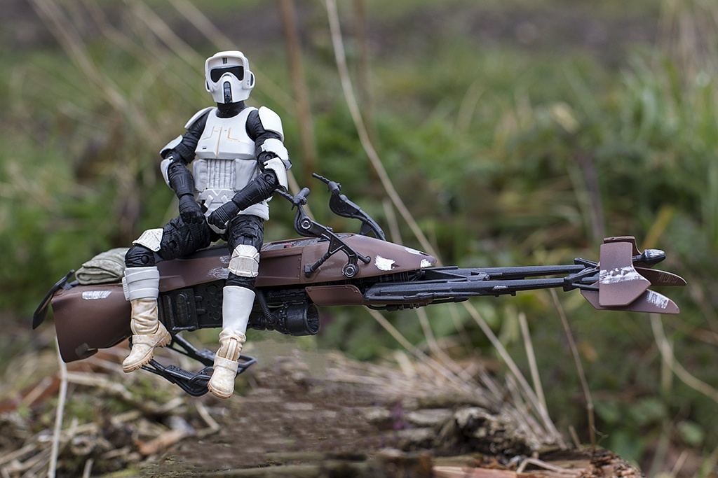 Photo in Portrait #star #wars #toy #photography #biker #scout #endor #trees #wood #portrait #realism