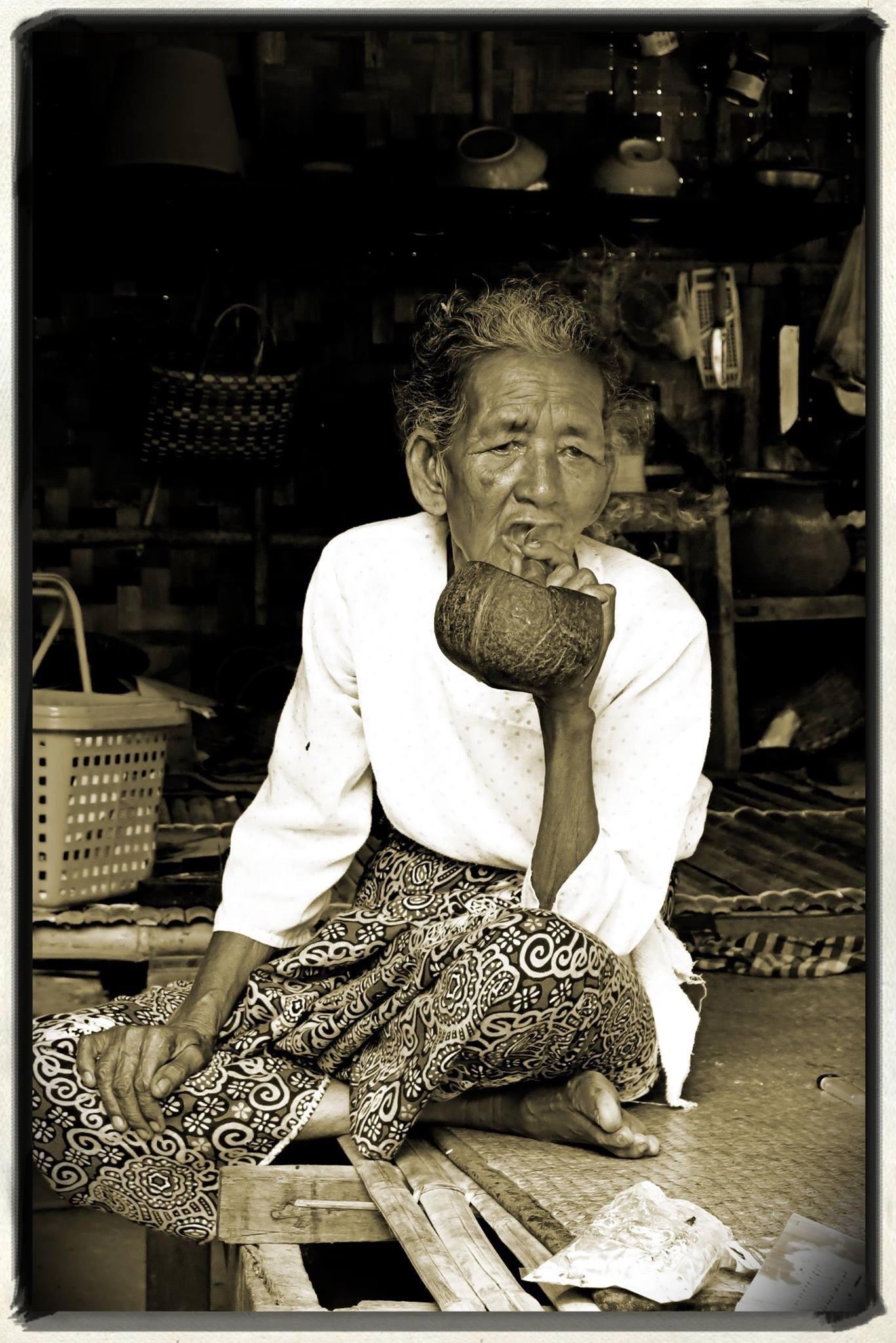 Burmese Genteel  Lady by Nancy A Wall