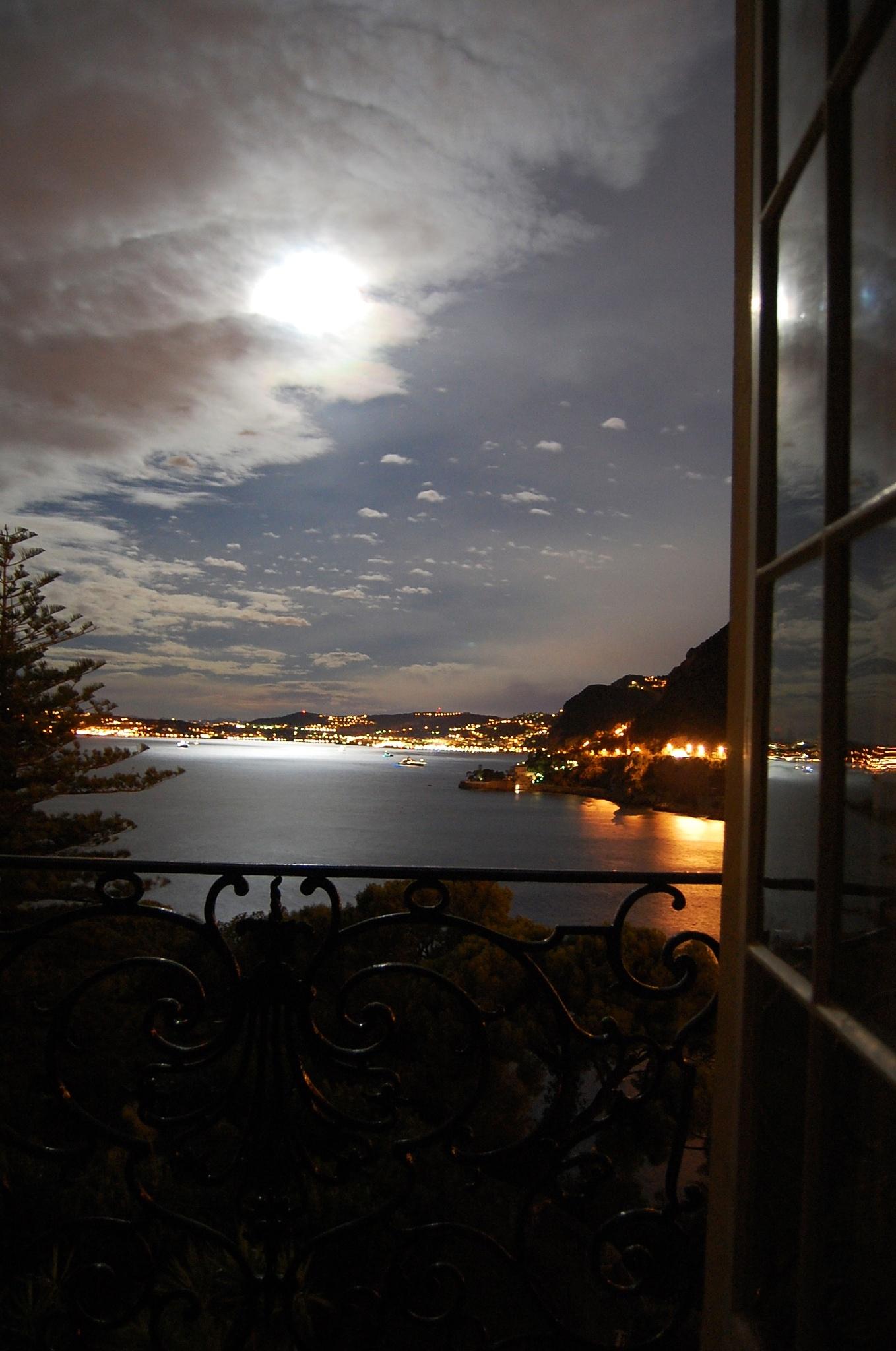 Photo in Landscape #night #moonshine #window scene #view