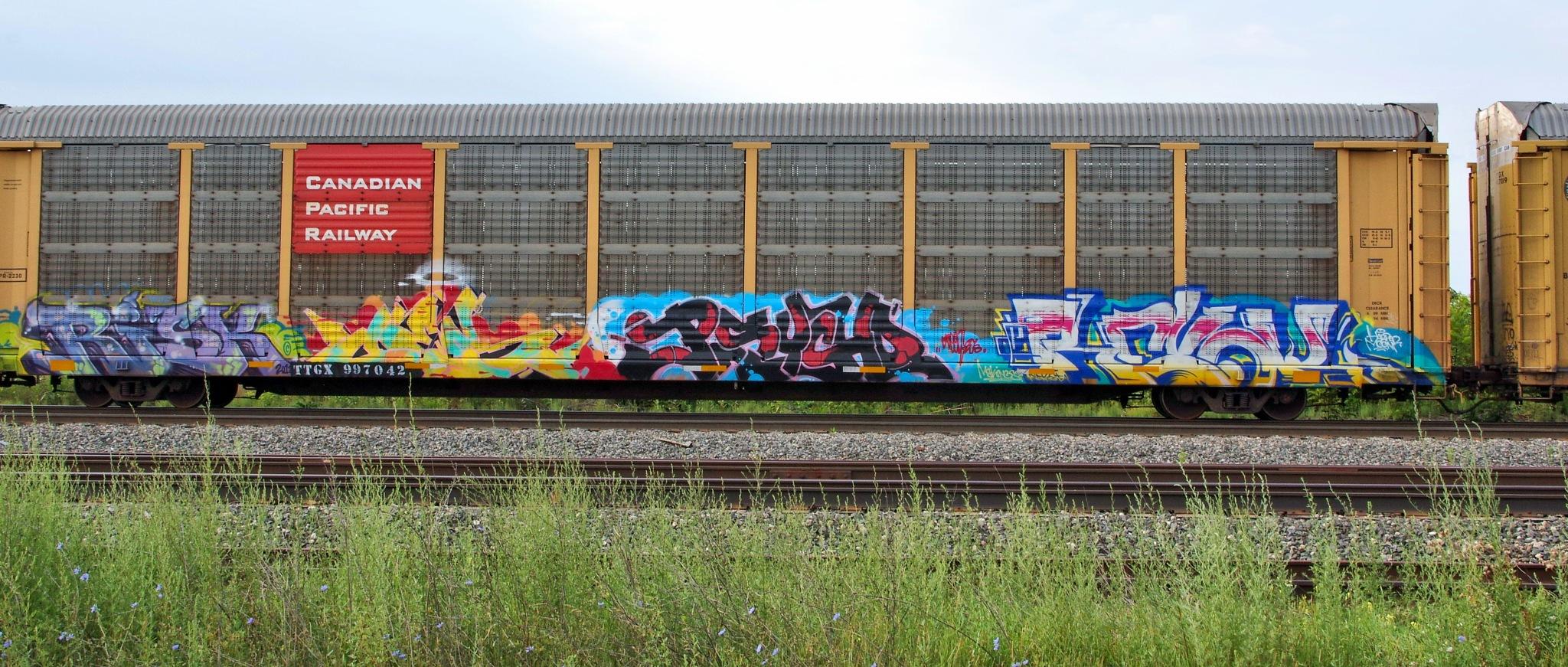 Train Graffiti by chuckhildebrandt7