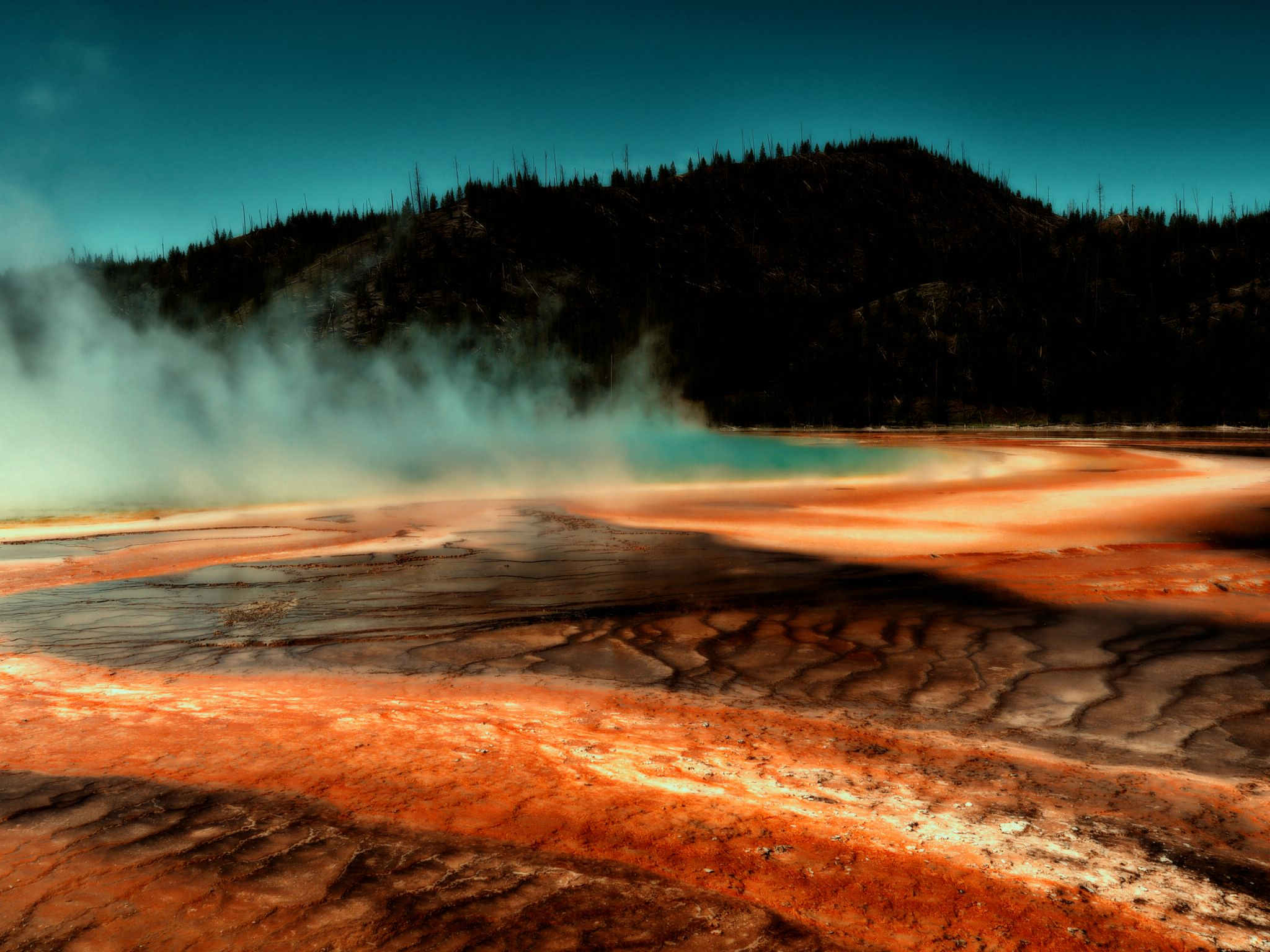 Grand Prismatic Spring, Yellowstone by bkleemann
