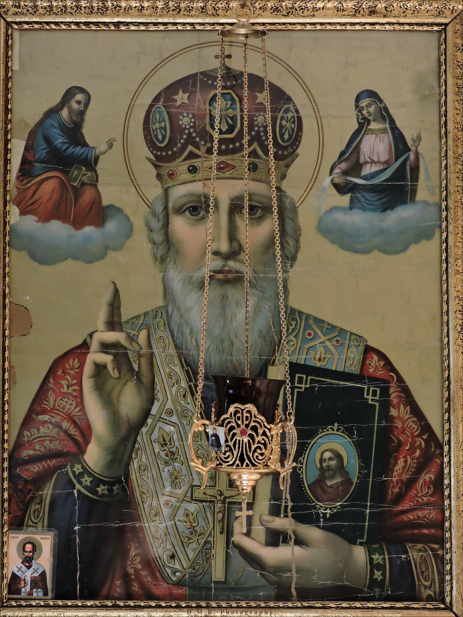 Icon of St. Nicholas from 1939, printed in Ljubljana Serbian Orthodox eparchy by Драгана М. Реџић