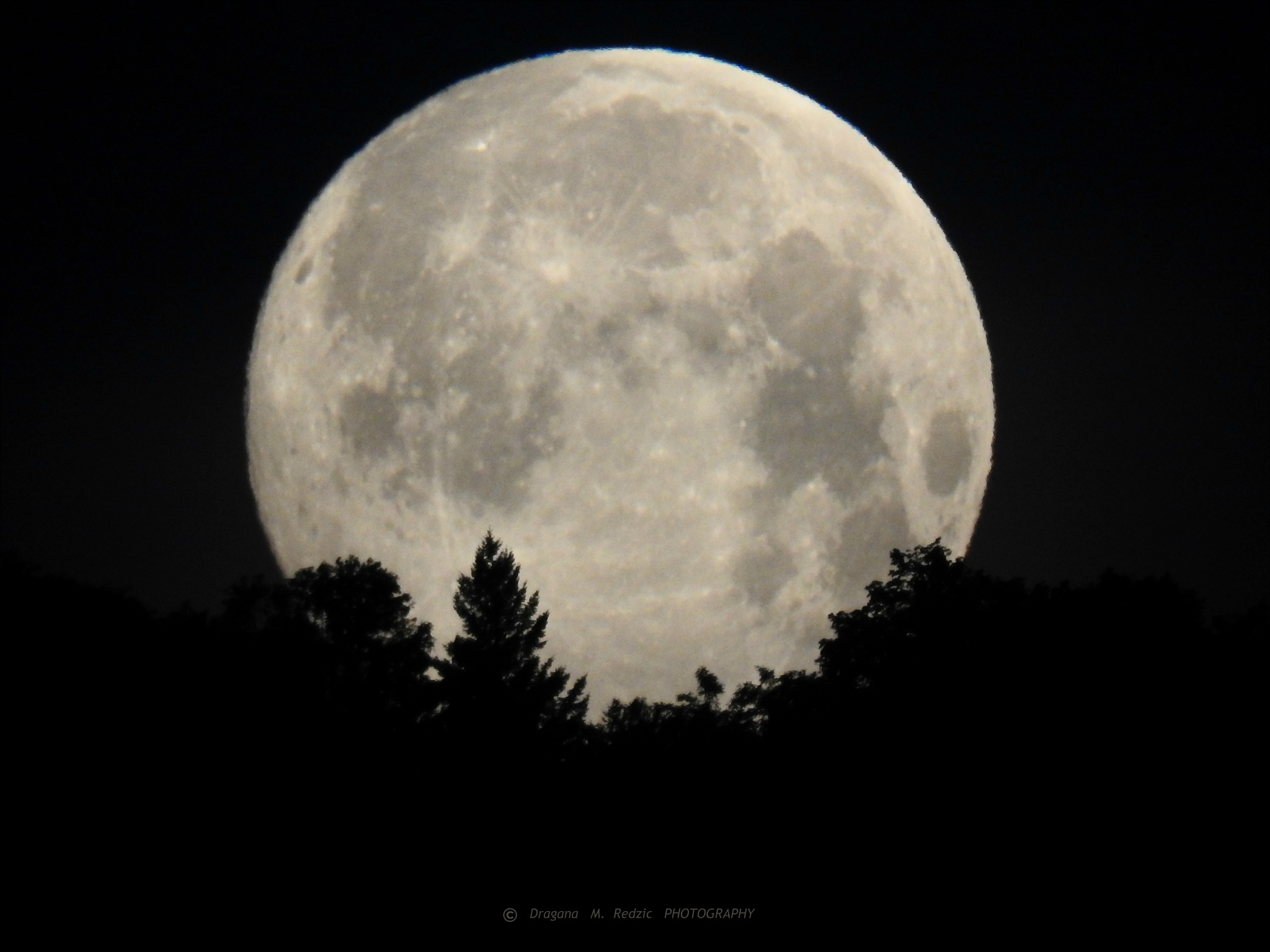Moonset of The Full Moon, behind Bukulja Mountain by Драгана М. Реџић