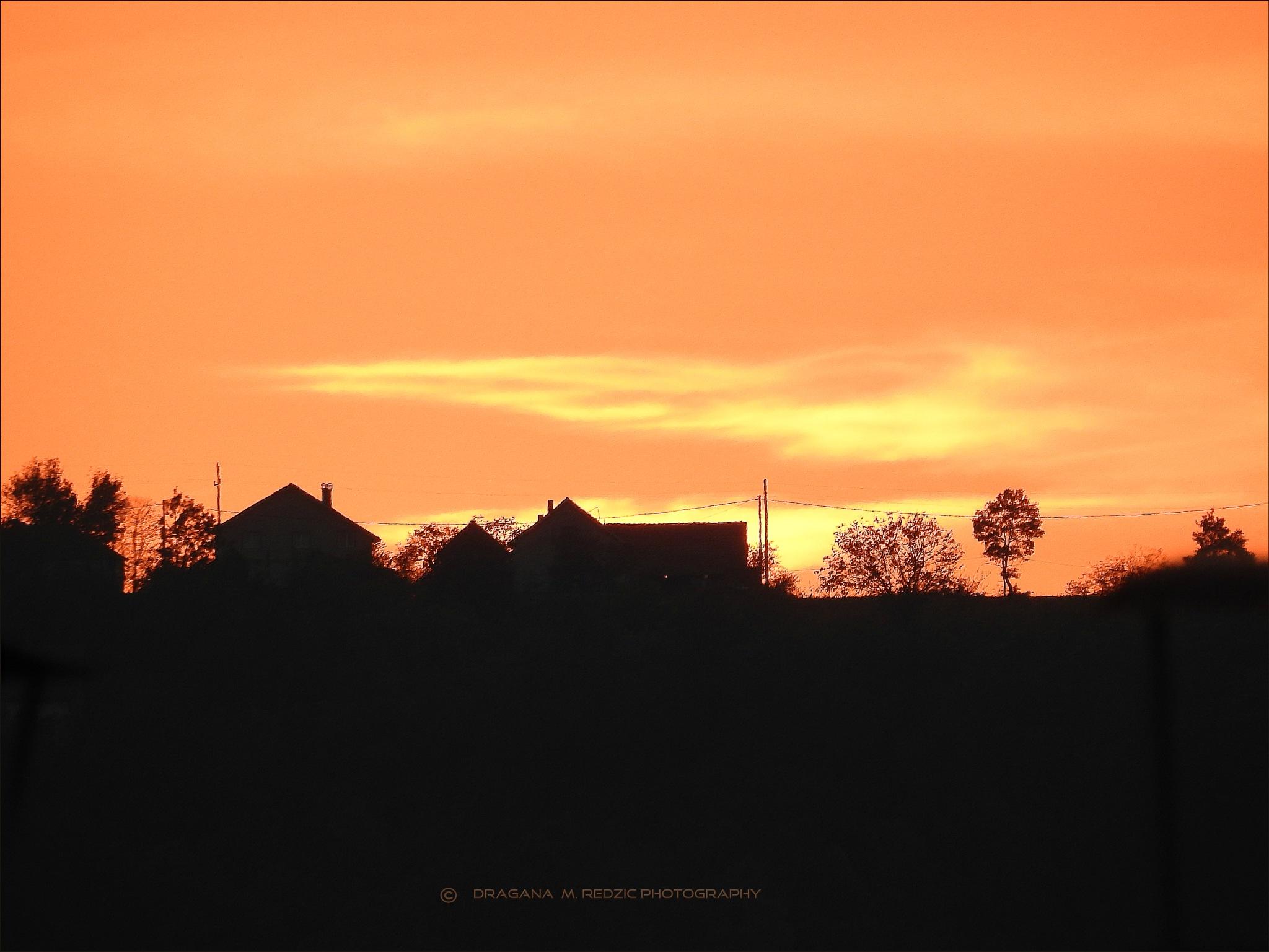Sunset 14 km away by Драгана М. Реџић