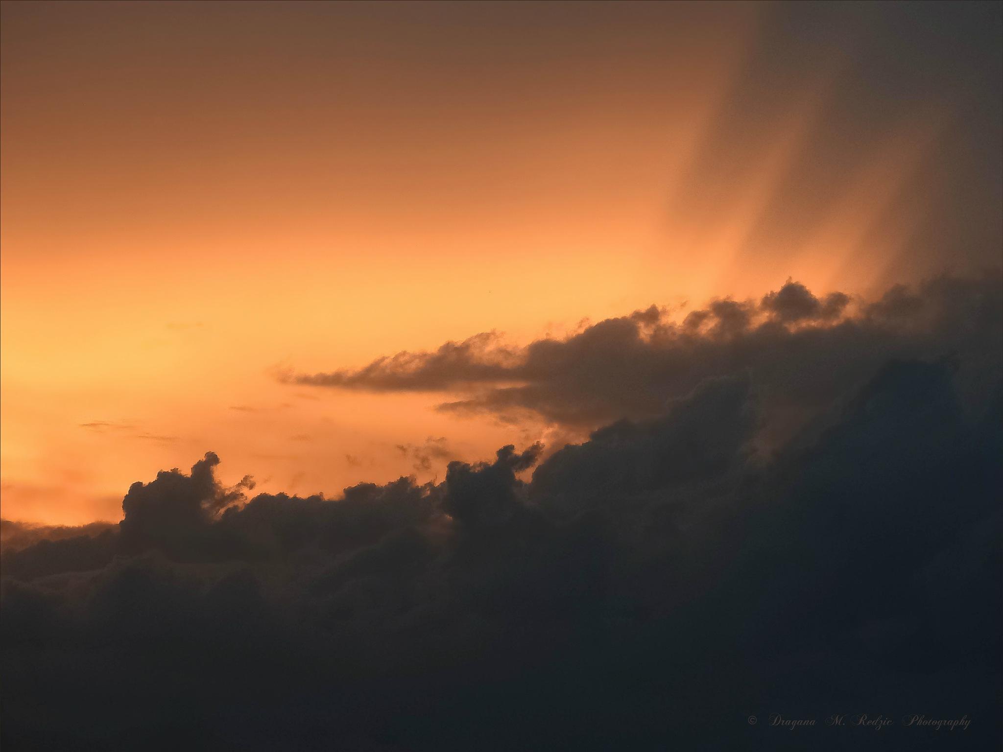Cloudy dusk by Драгана М. Реџић