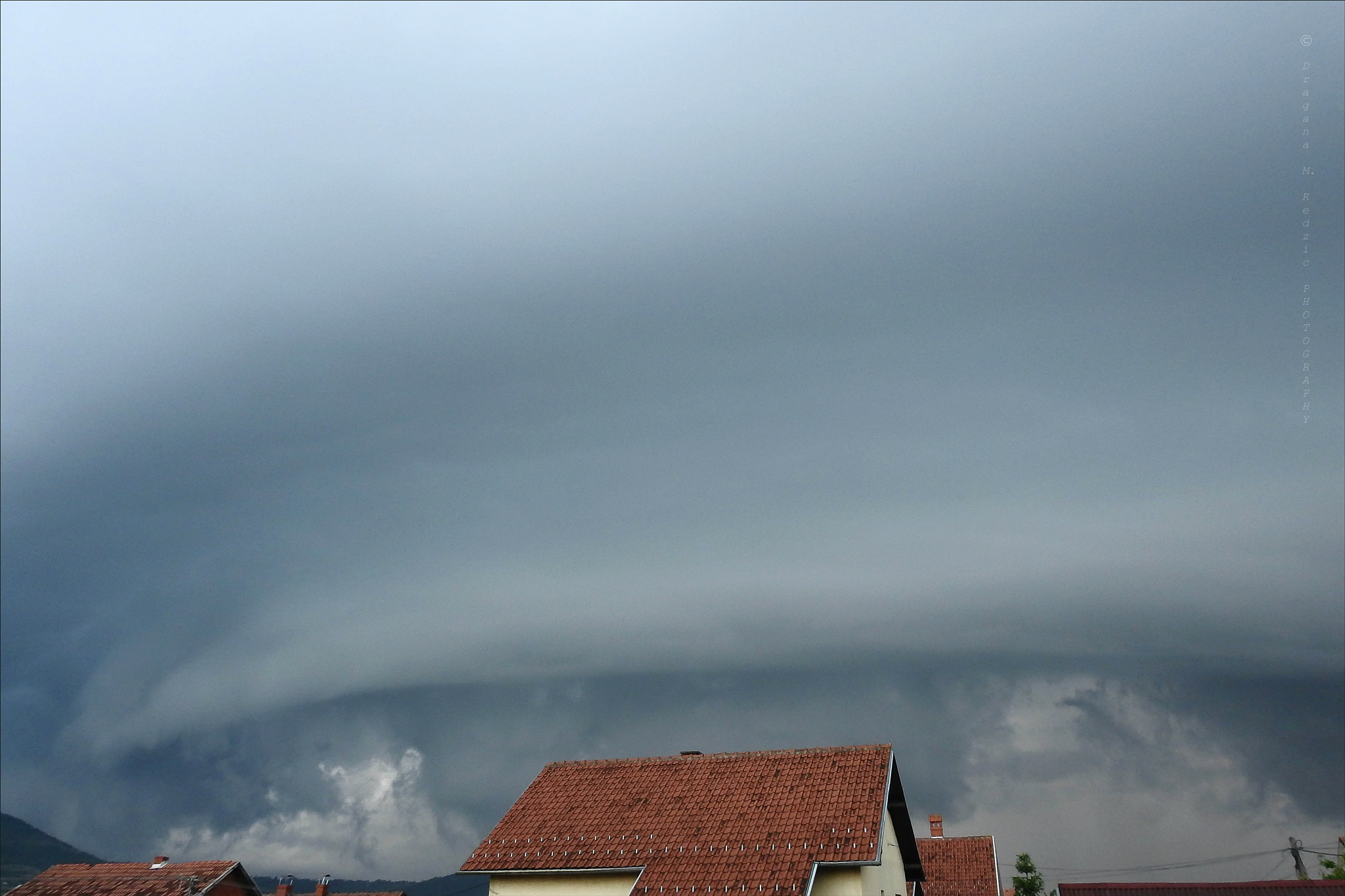 Advancing storm over my city ... by Драгана М. Реџић