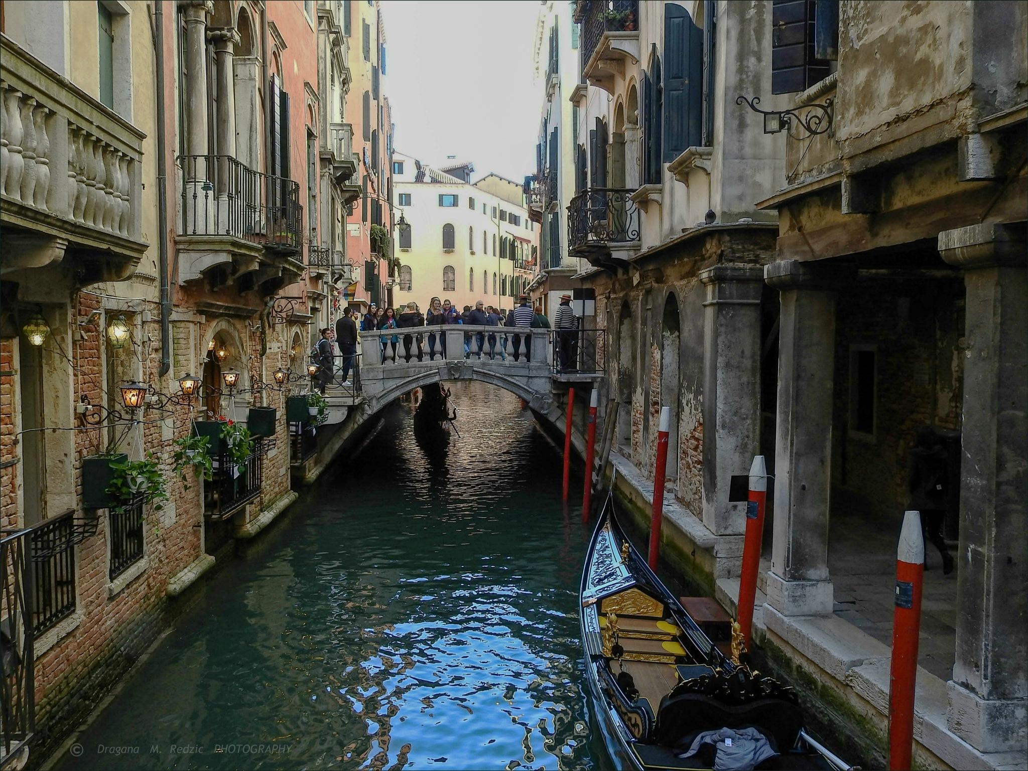13 - Per le strade di Venezia - Ponte con molti turisti by Драгана М. Реџић