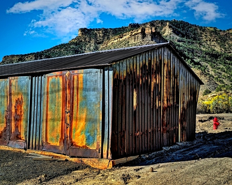 Vintage Storage Shed by Michael Anderson