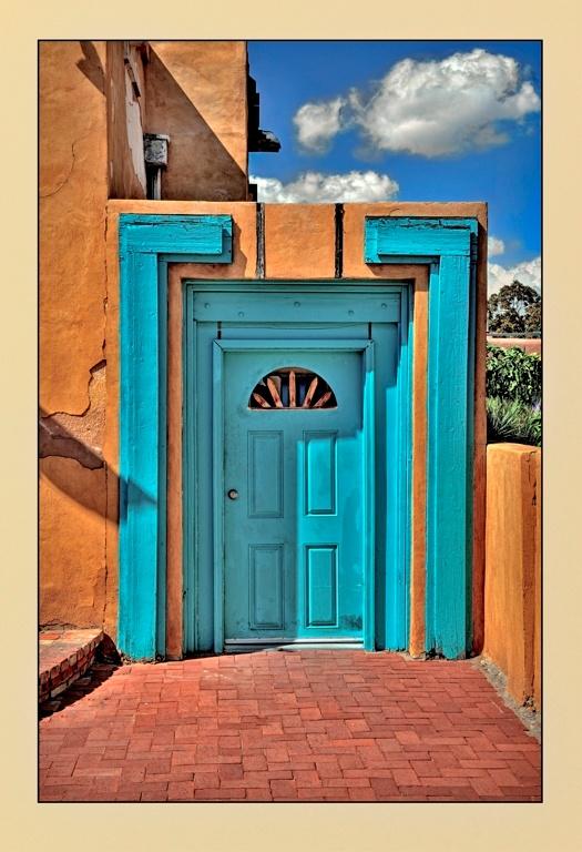 Santa Fe Blue Door by Michael Anderson