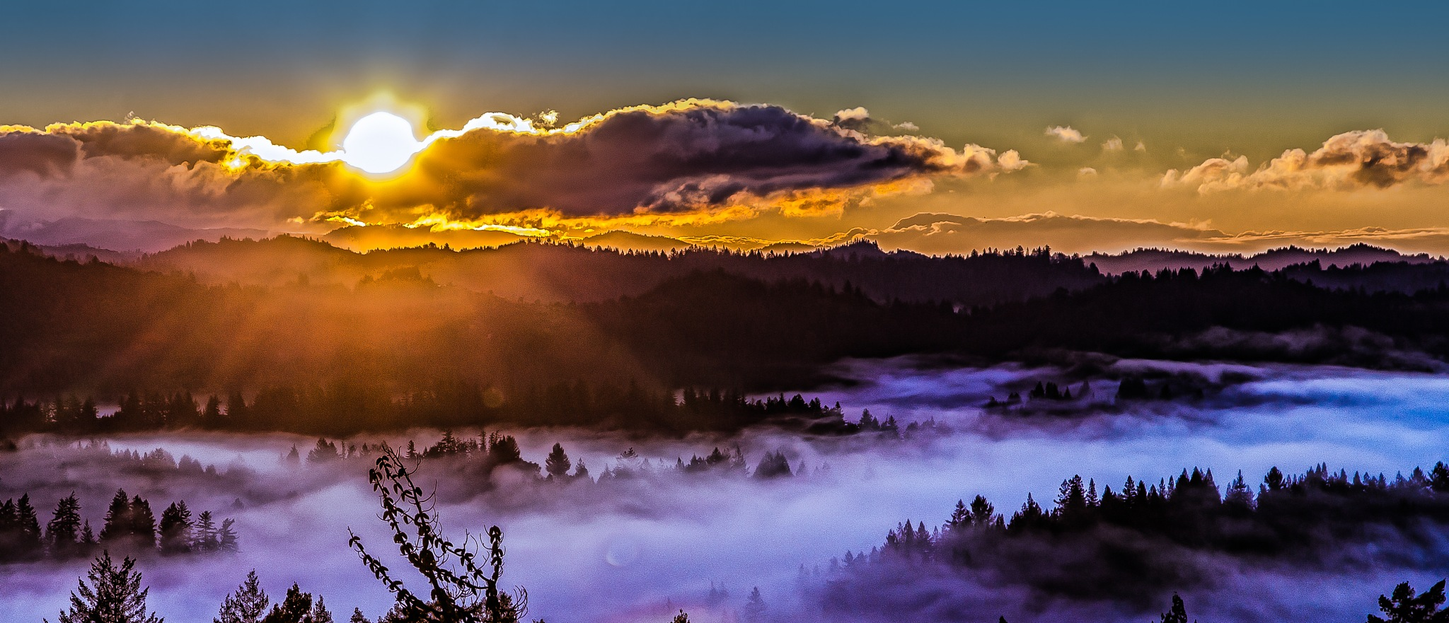 sunrise over the clouds by volkhard sturzbecher