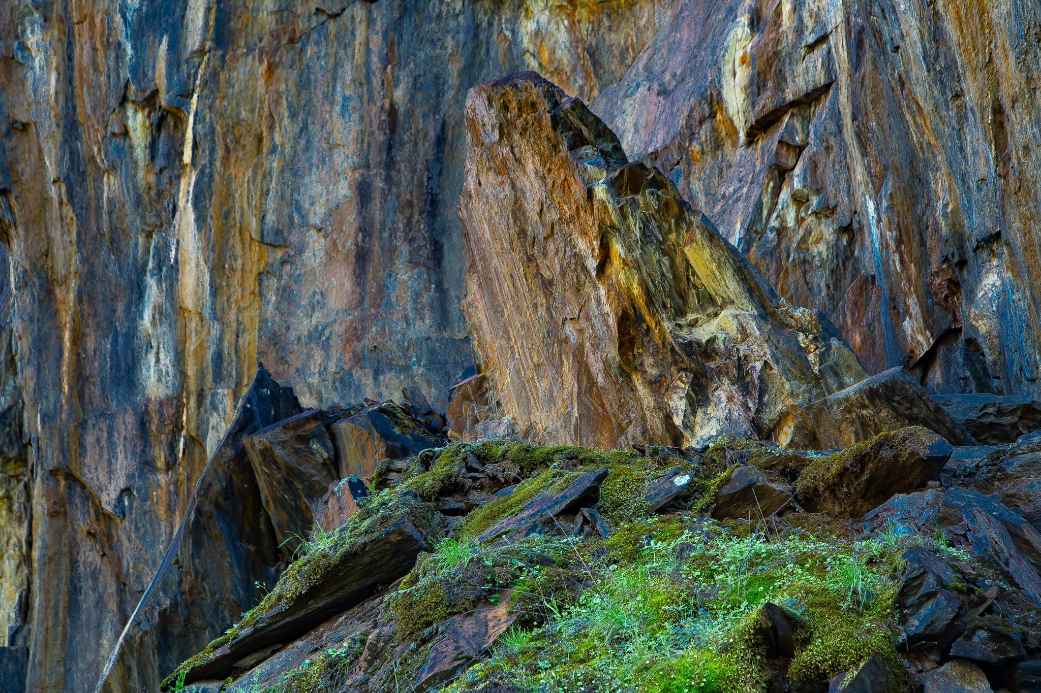 Yosemite, abstract composition by volkhard sturzbecher