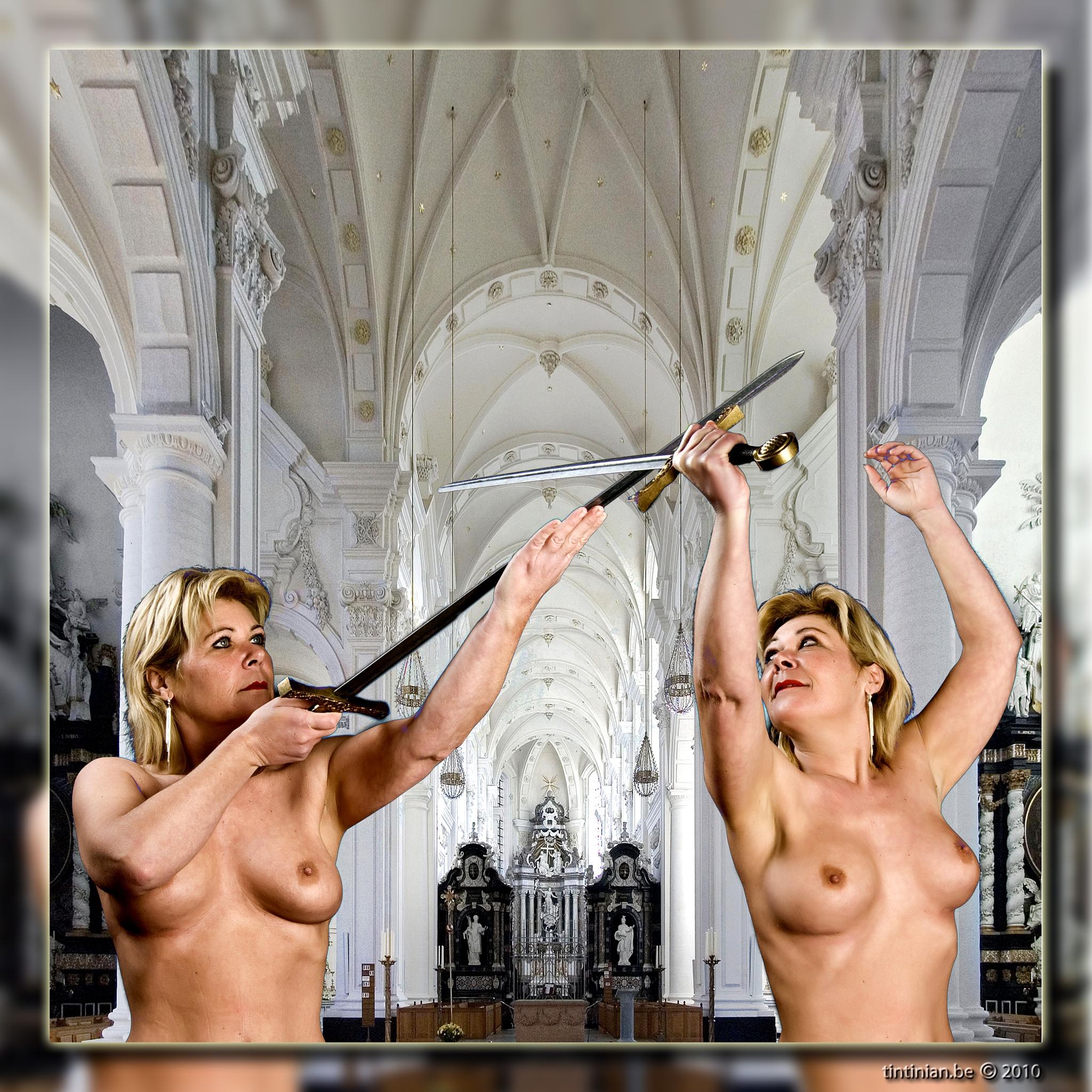 Photo in Nude #martine #nude #swords #tintinian