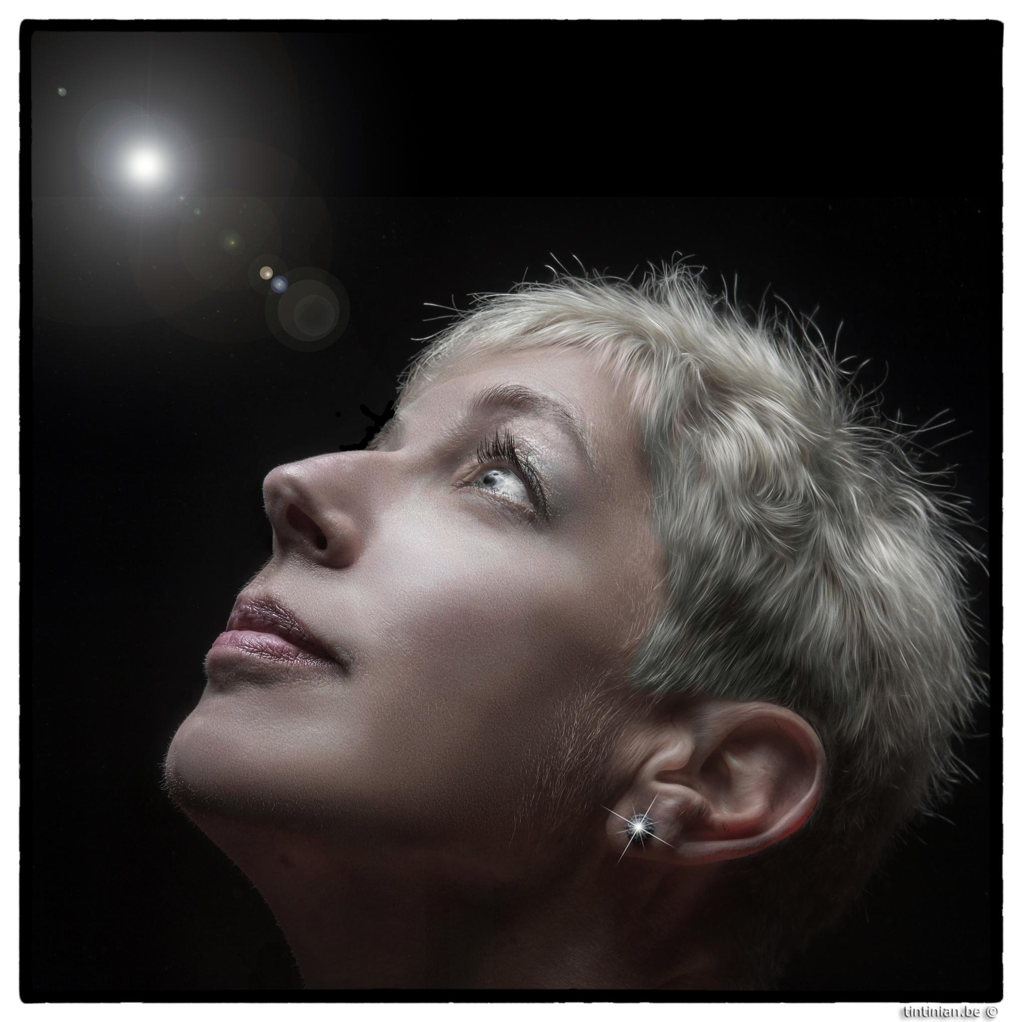 Photo in Portrait #martine b. #portrait #tintinian