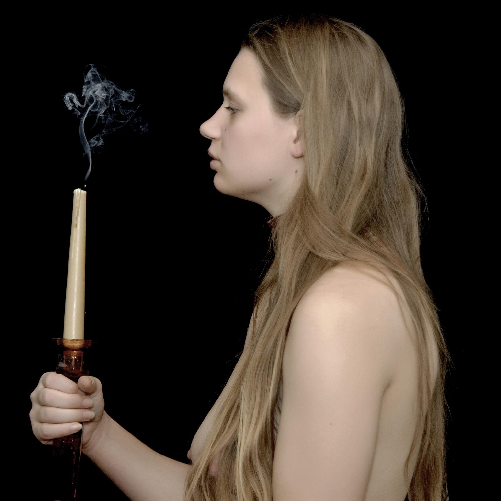 Photo in Nude #lesley #candle #smoke #tintinian