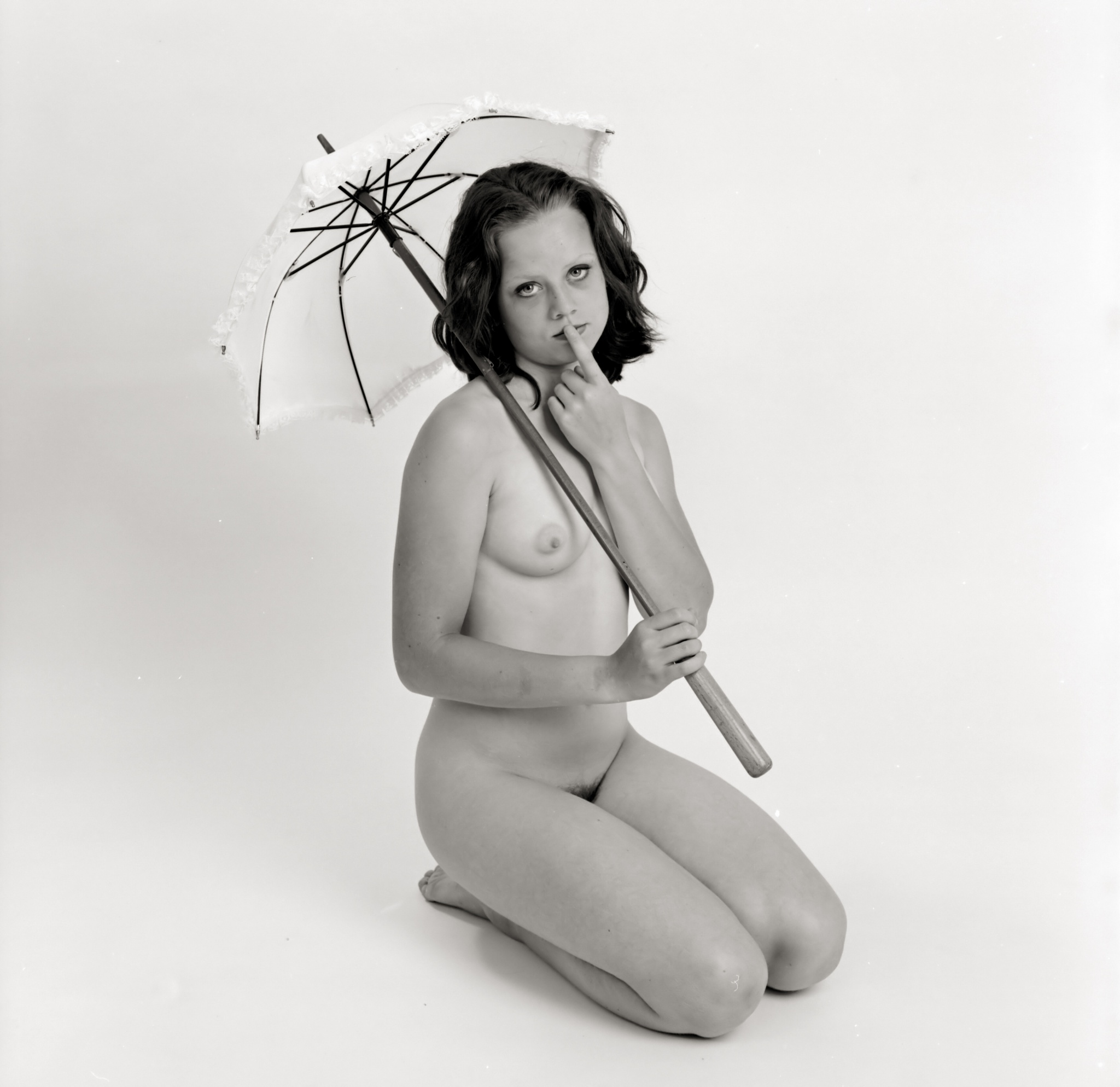 Photo in Nude #tinneke #umbrella #tintinian