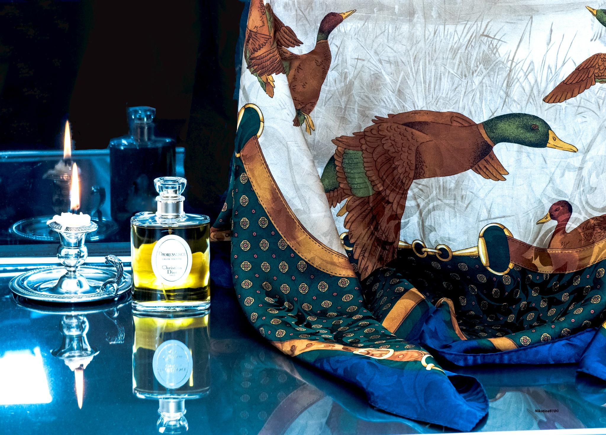 Photo in Fashion #ducks #perfume #silk #fragance