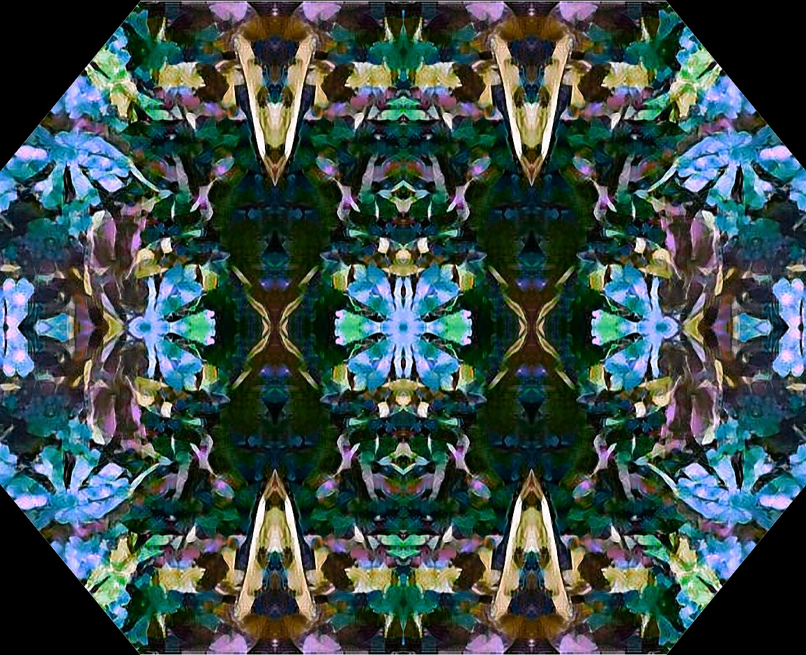 Littered in Flowers Abstract 1 by Missy Rubenstein