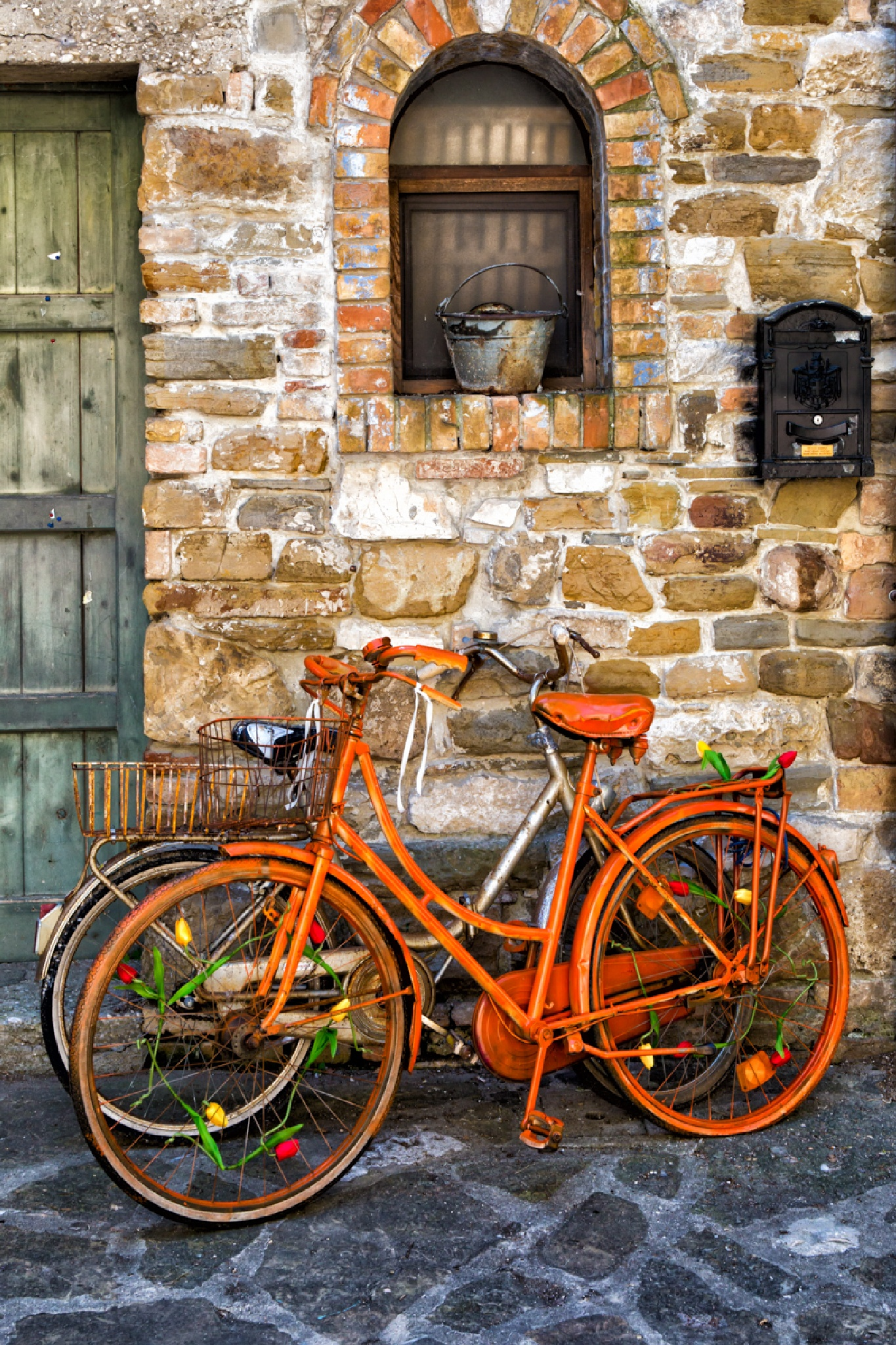 Orange Bike by Walter Quirtmair