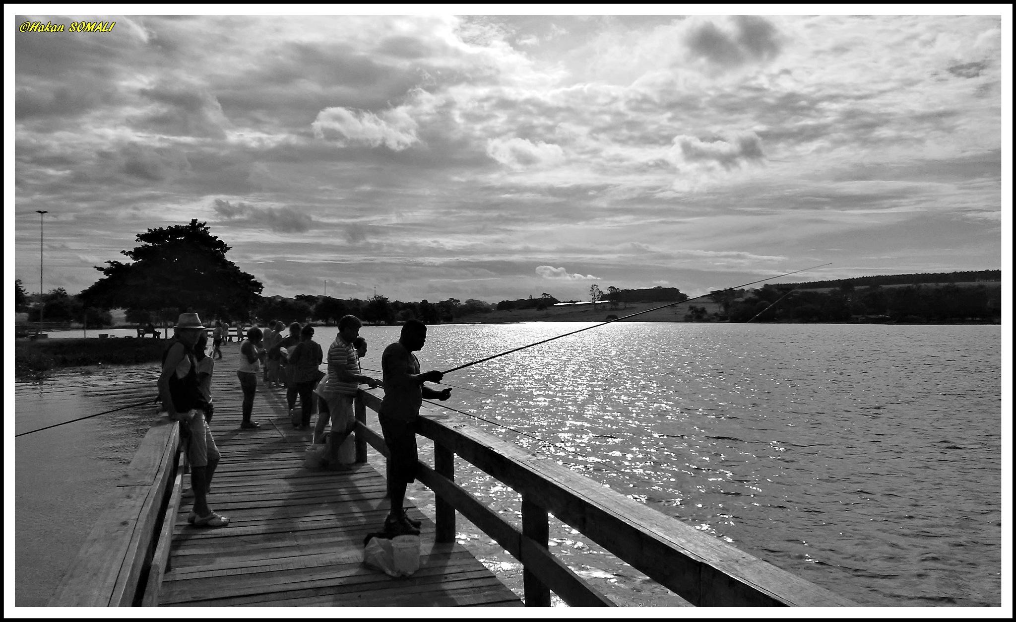 Pescadores no Rio Tiête em Arealva / SP by Hakan Somali