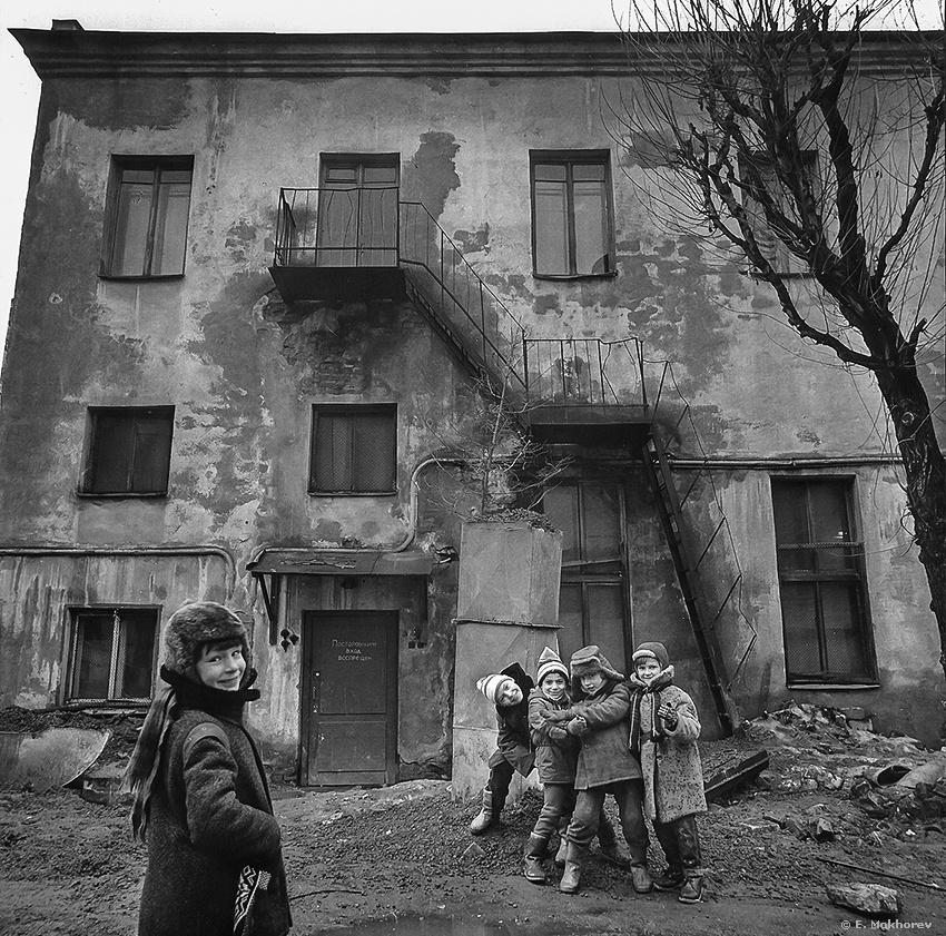 Boys. Ligovka, Leningrad, 1989. by Evgeny Mokhorev