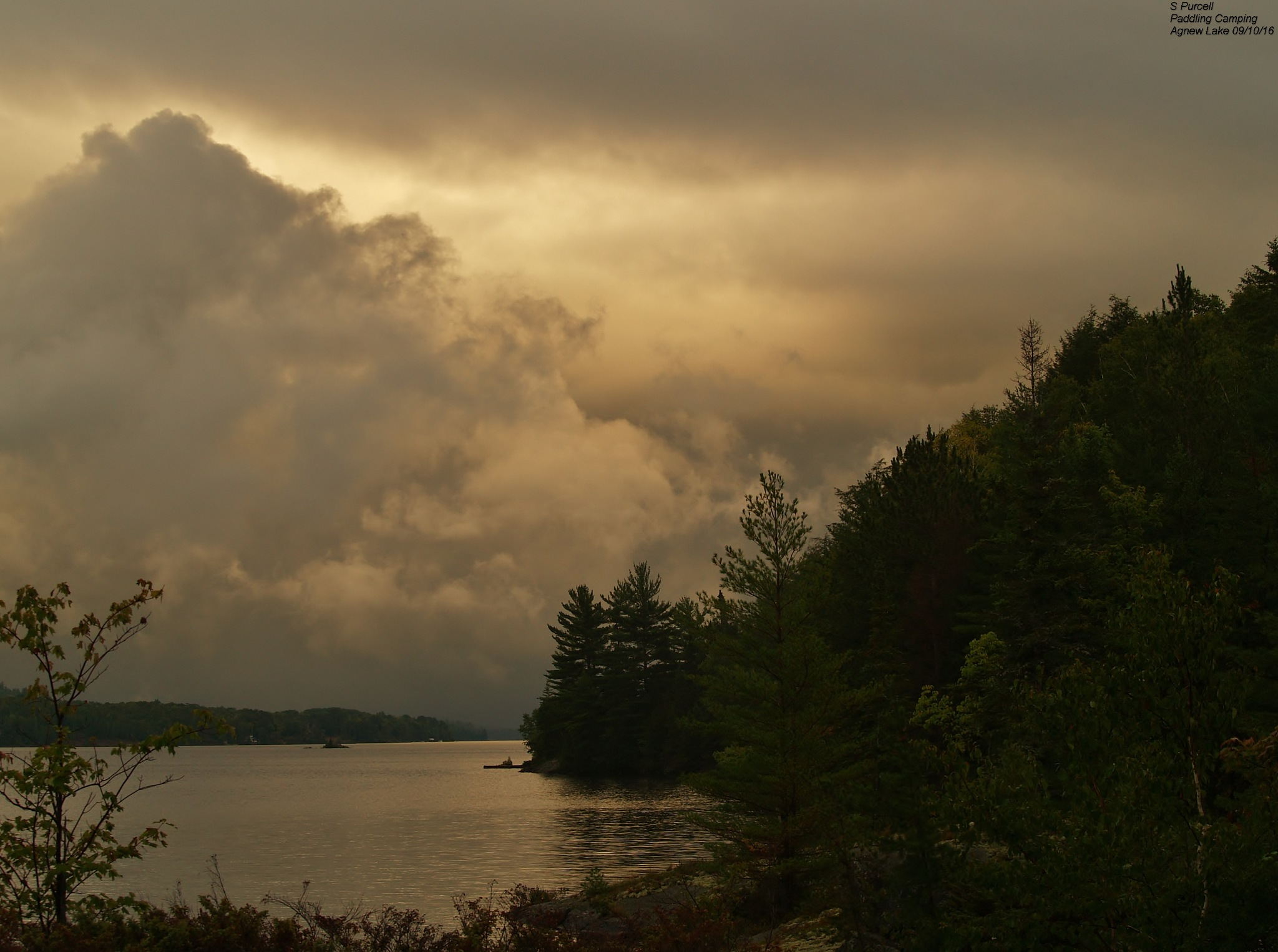 Wilderness Skies over Agnew Lake  by Sean Purcell