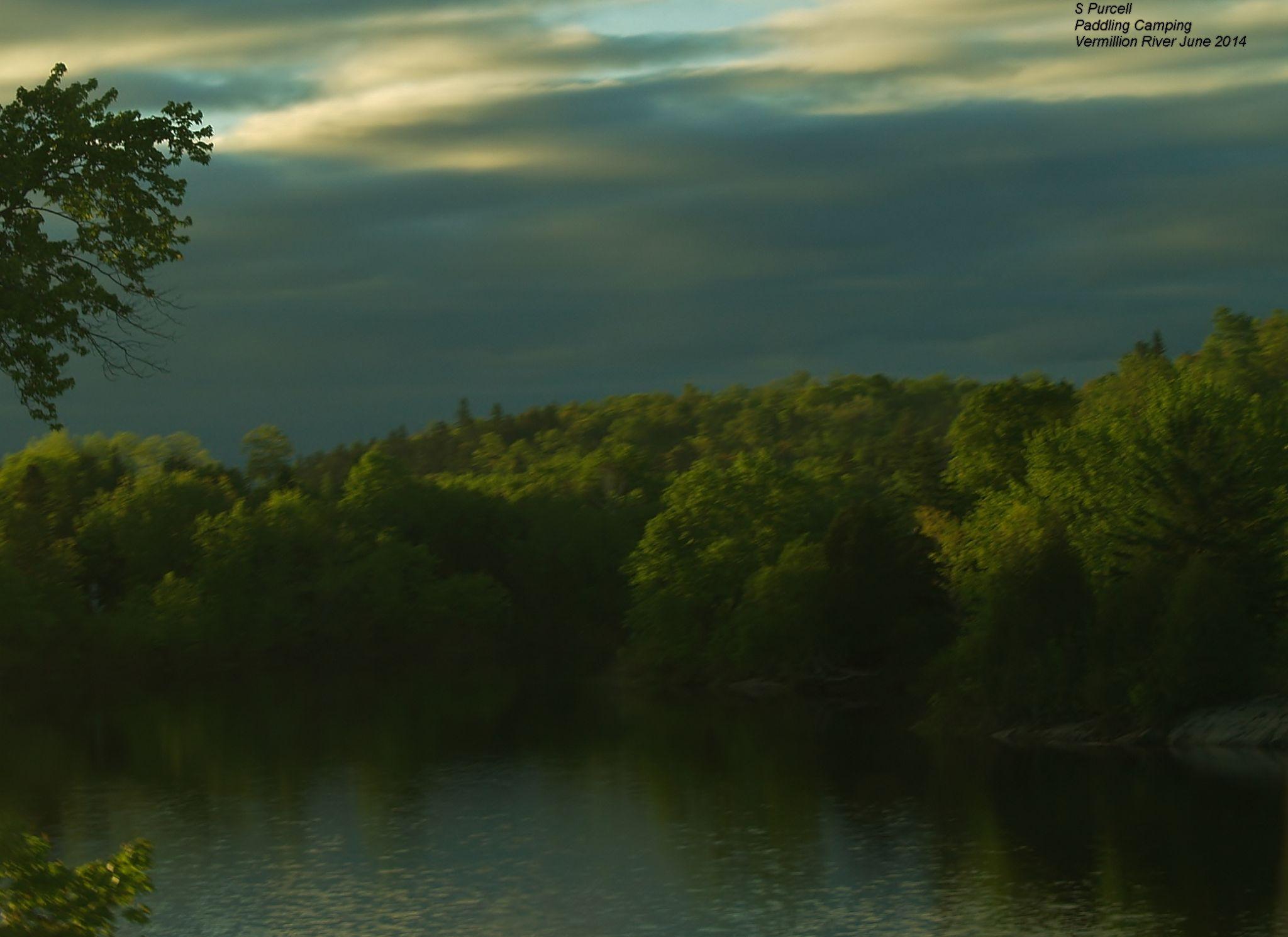 Vermillion River watercolour  by Sean Purcell