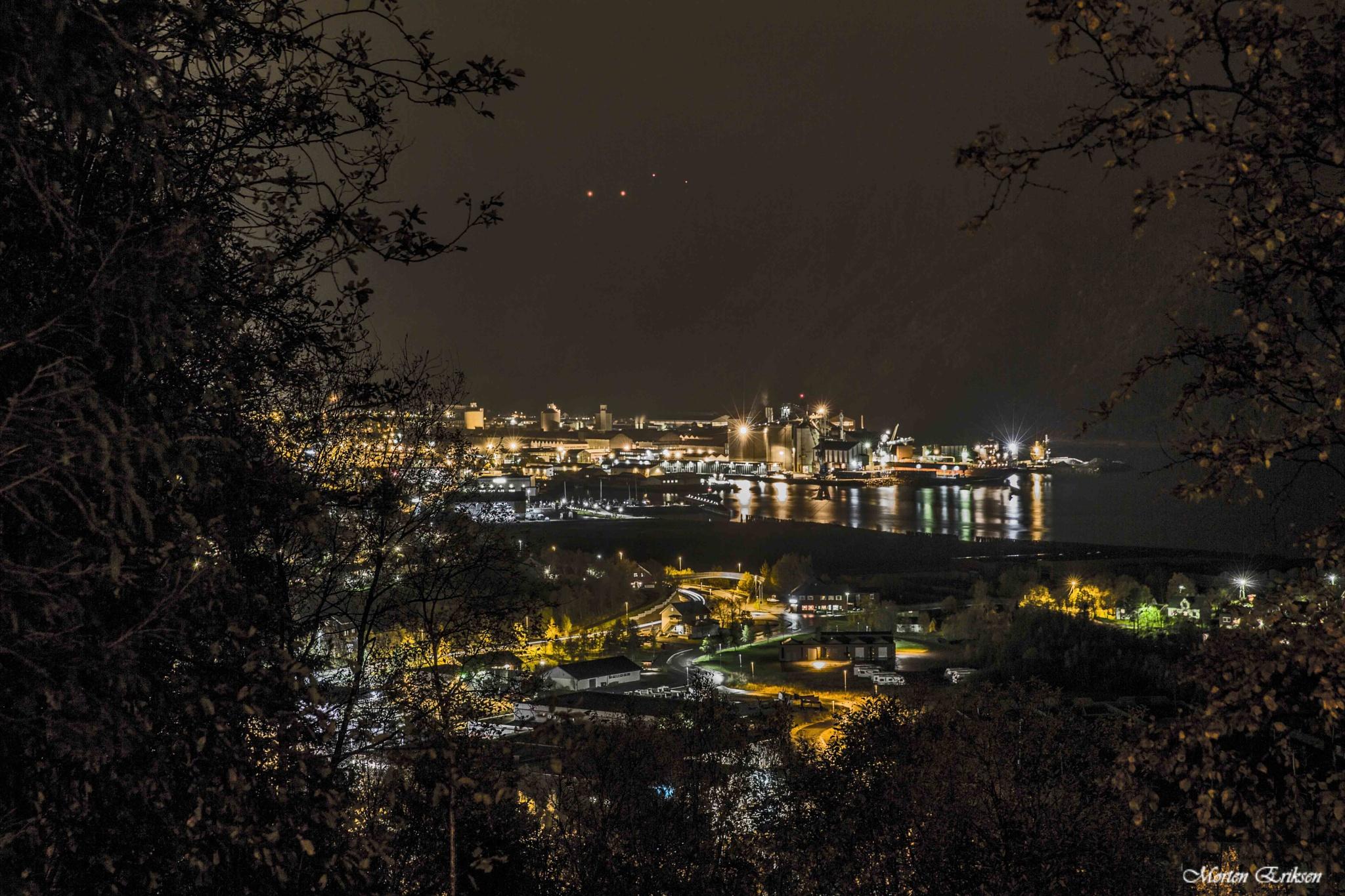 Mosjøen at night by Morten Eriksen