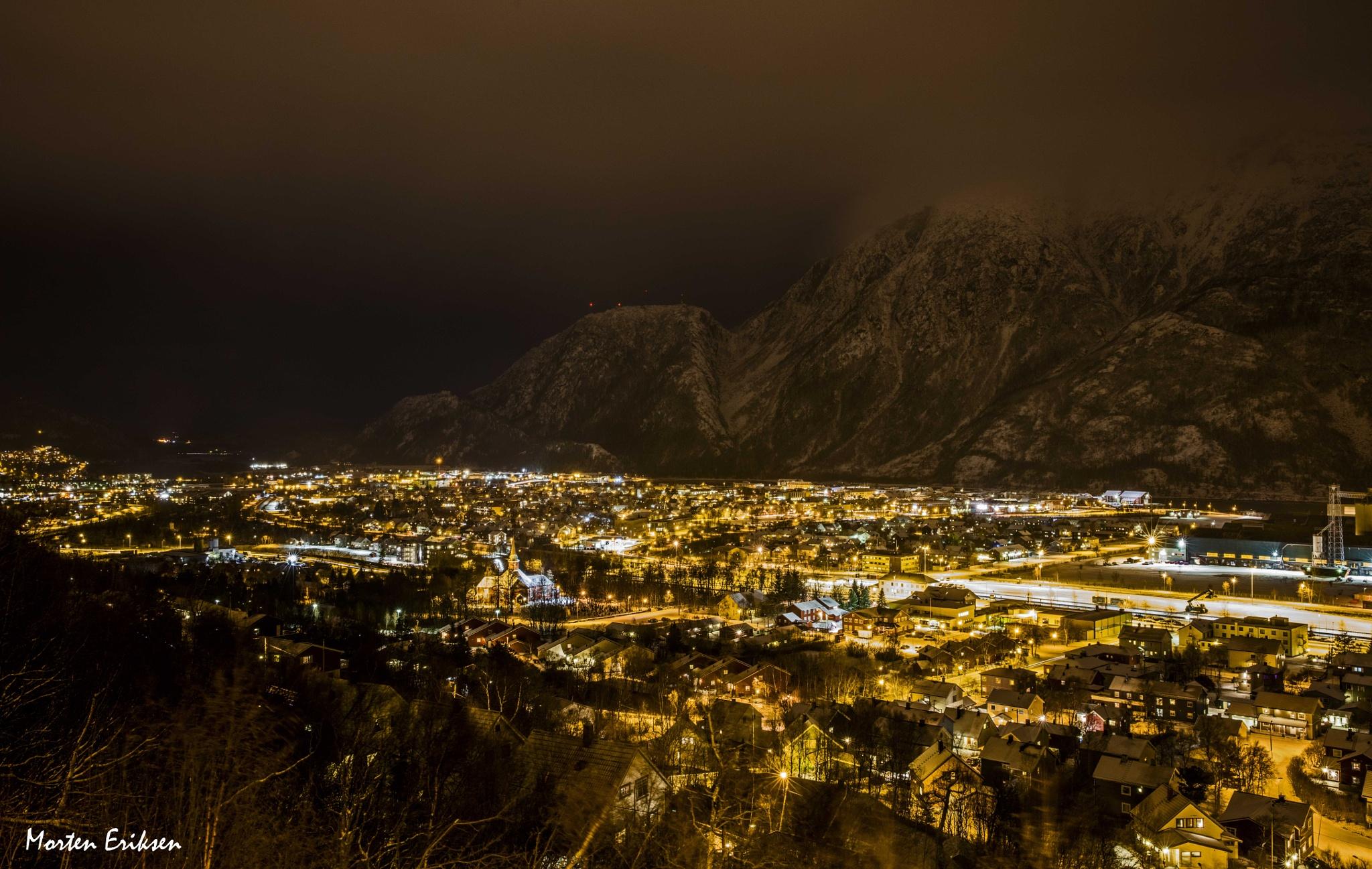 Mosjøen - Night Photography by Morten Eriksen