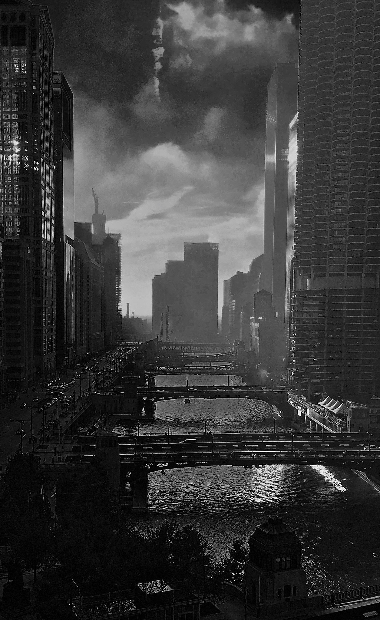 Chicago City Bridges by Mike Freel