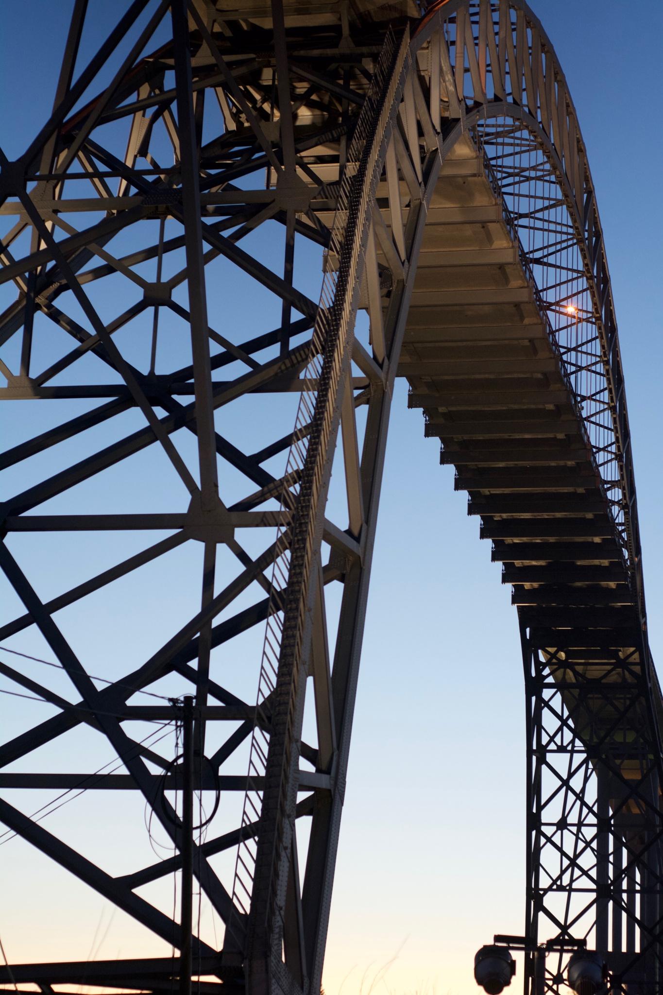 Karmsund Bridge from below by Lars-Toralf Utnes Storstrand
