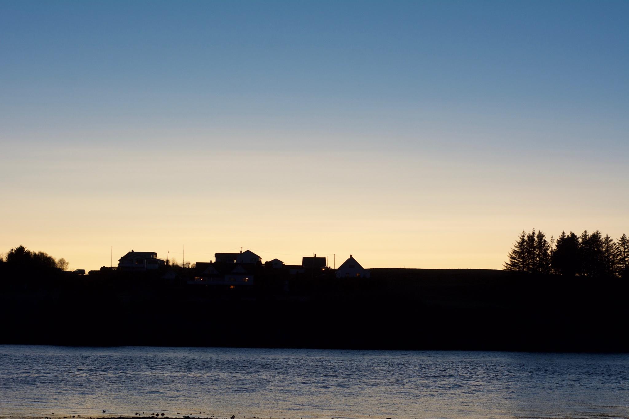 Sunset over Karmøy by Lars-Toralf Utnes Storstrand