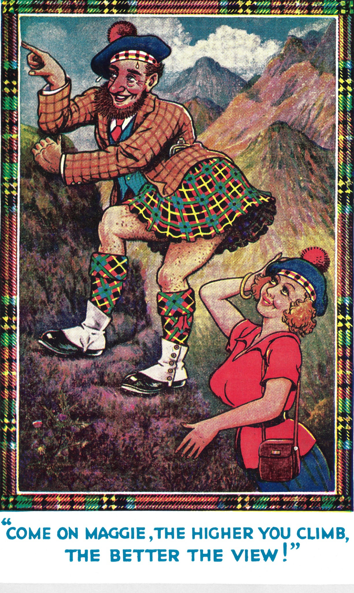 Vintage Scottish Joke 5 by Lars-Toralf Utnes Storstrand