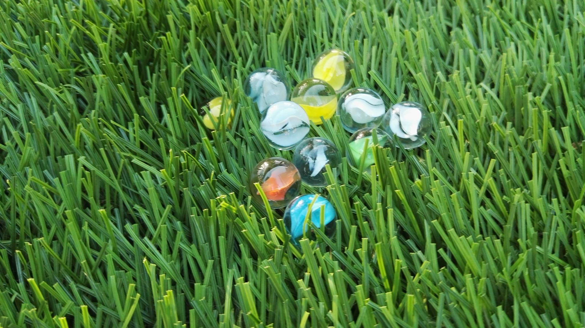 Astro turf Marbles by Lars-Toralf Utnes Storstrand