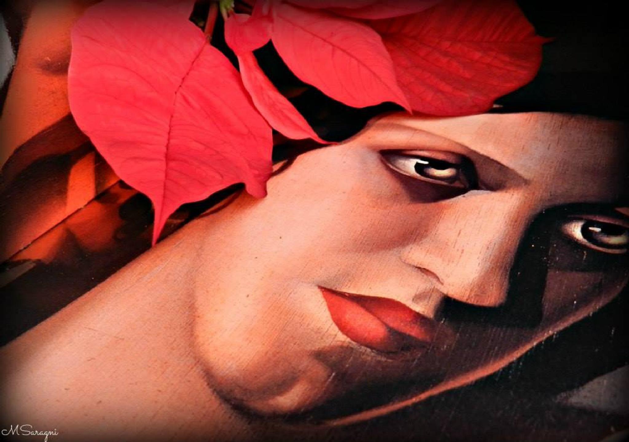 Con un libro di Tamara de Lempicka by Marisa Saragni