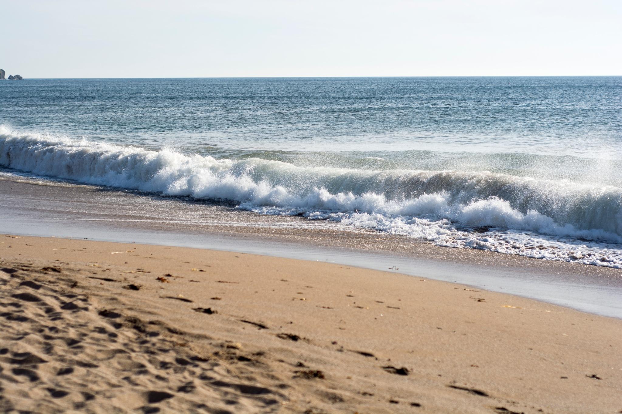 Photo in Sea and Sand #beach #coast #sand #waves