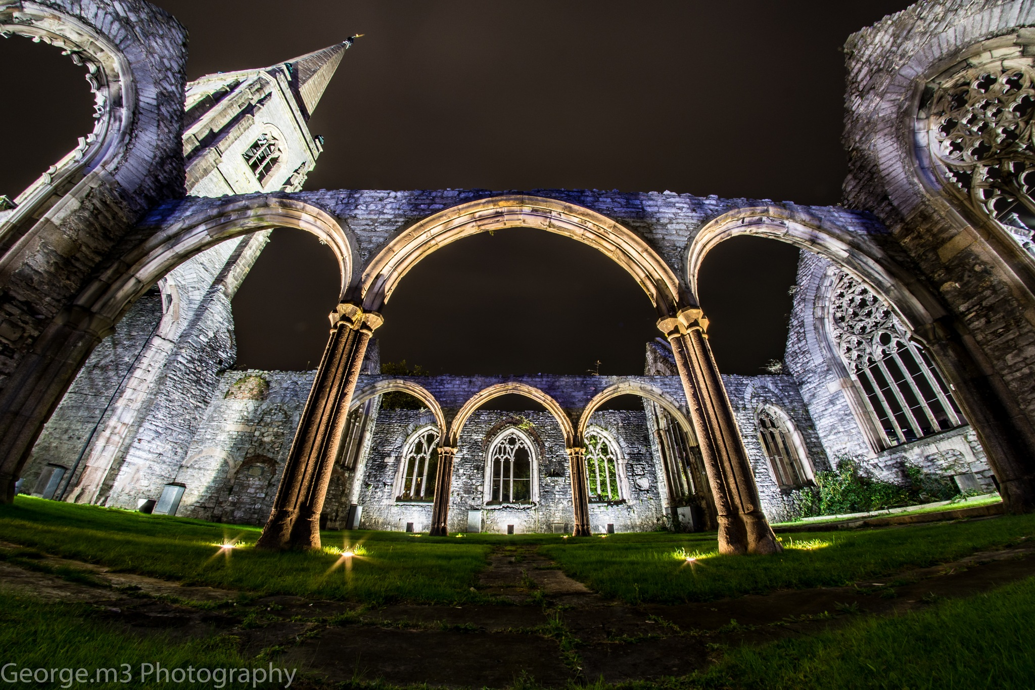 Bombed out church by George Harding